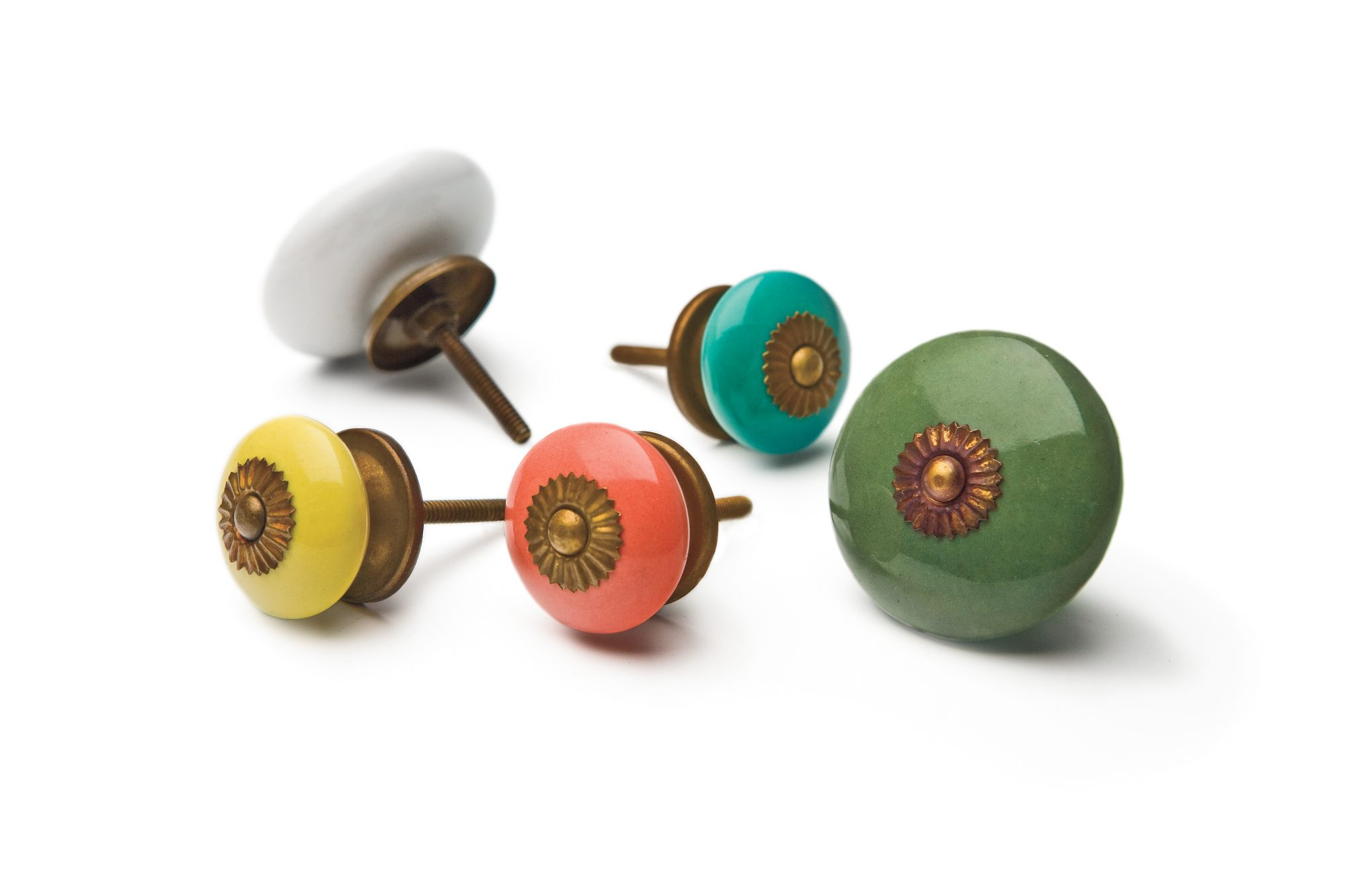 Inspired by our Vintage Kitchen: Zinnia Knobs