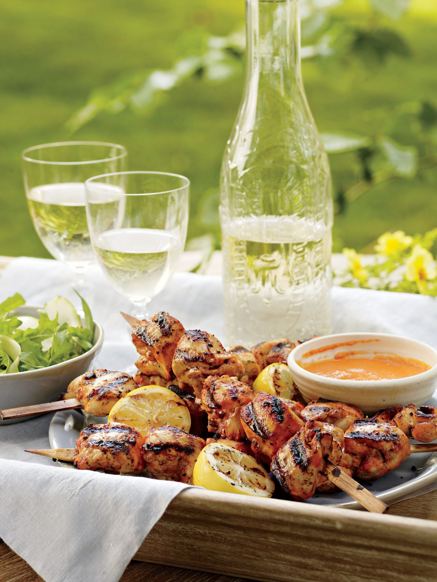 Buttermilk-and-Honey Chicken Kabobs