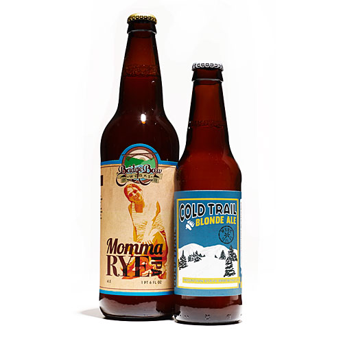 Bridge Brew Works Momma Rye IPA (Rye IPA) and Mountain State Brewing Co. Cold Trail Ale (Blonde Ale)