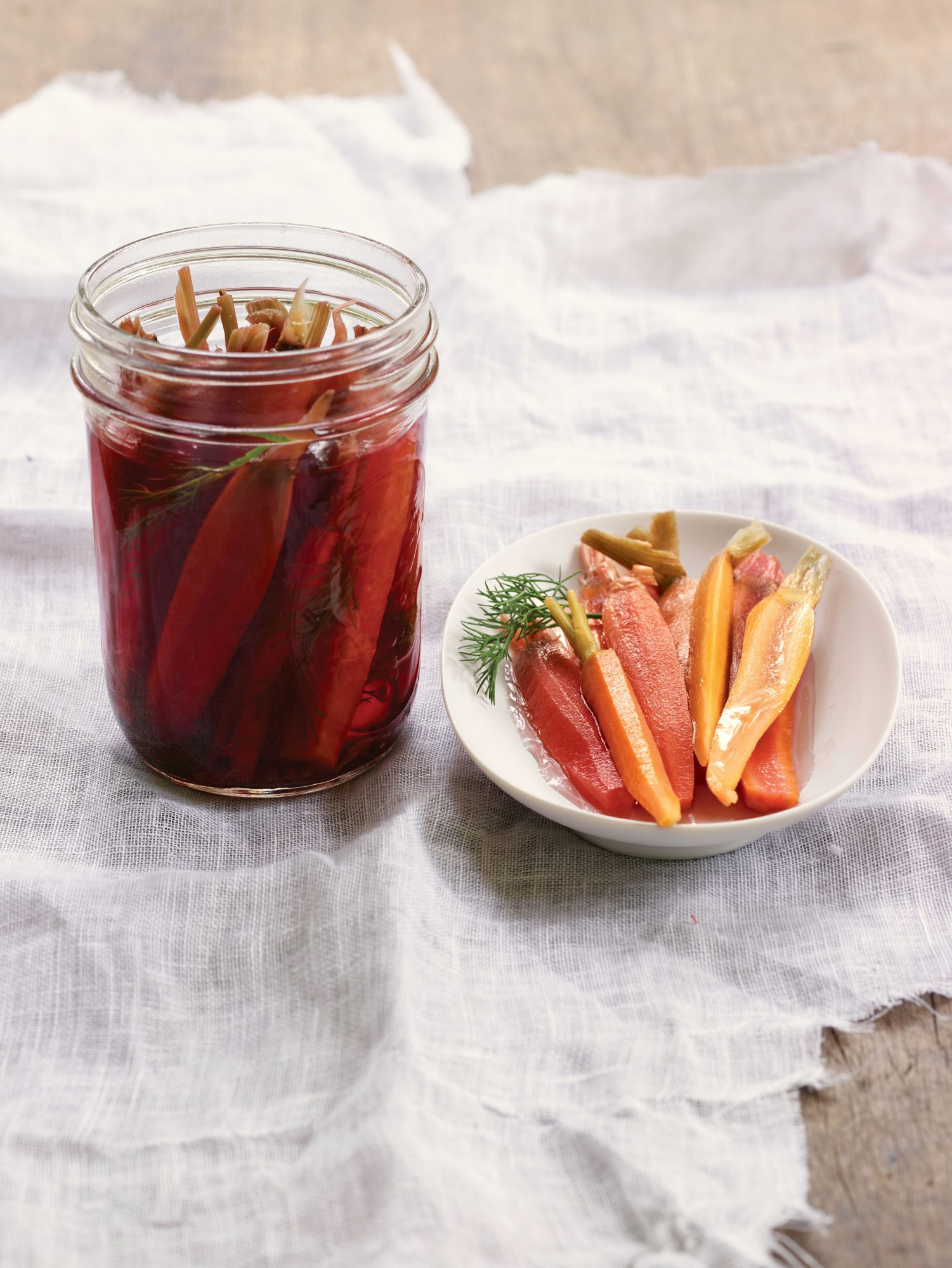 Pickled Rainbow Carrots with Coriander