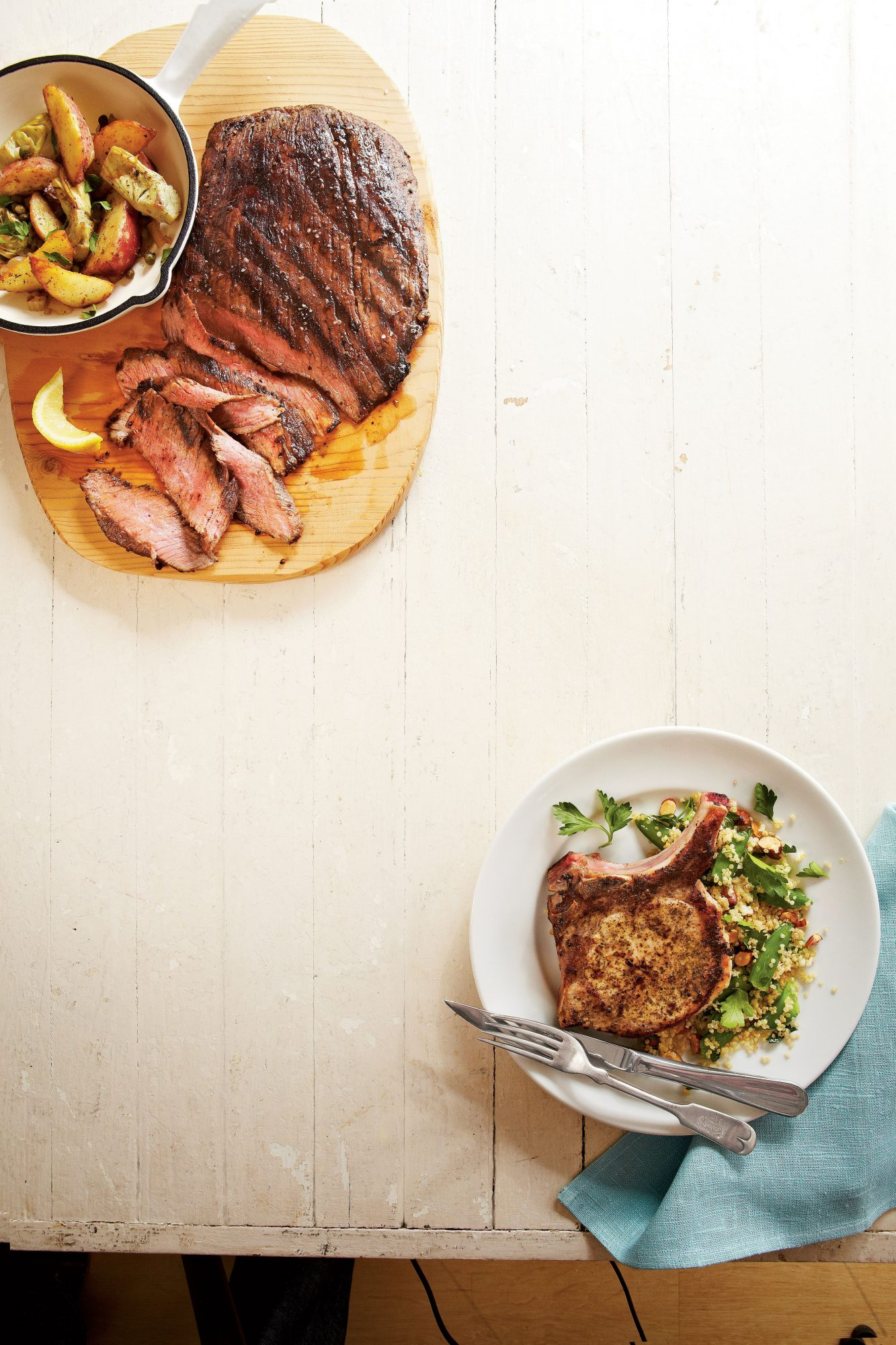 seared-steak-with-potato-artichoke-hash