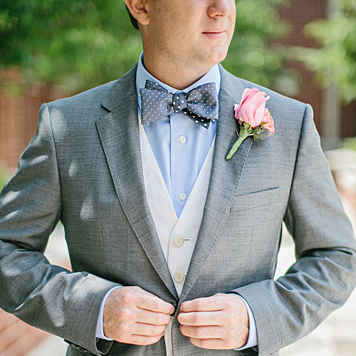 Blue Polka-Dot Bow Tie