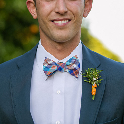 Vibrant Plaid Bow Tie