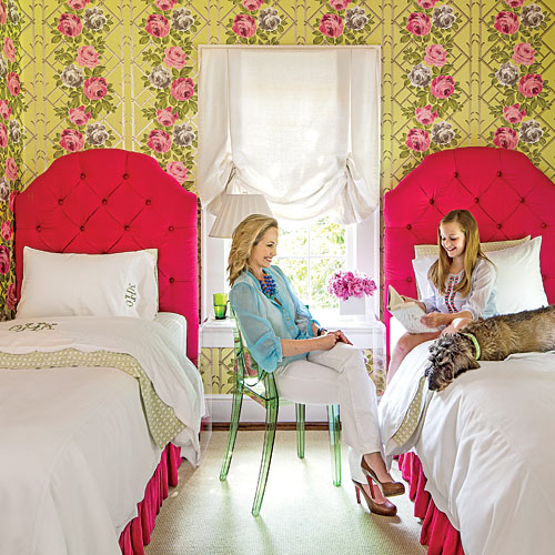 Pink and Green Tween Bedroom