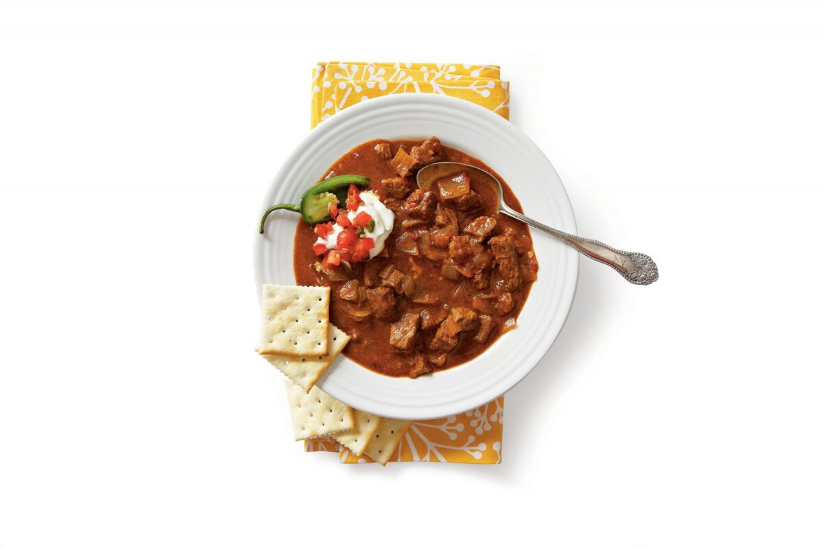 Spicy-Slow Cooker Beef Chili