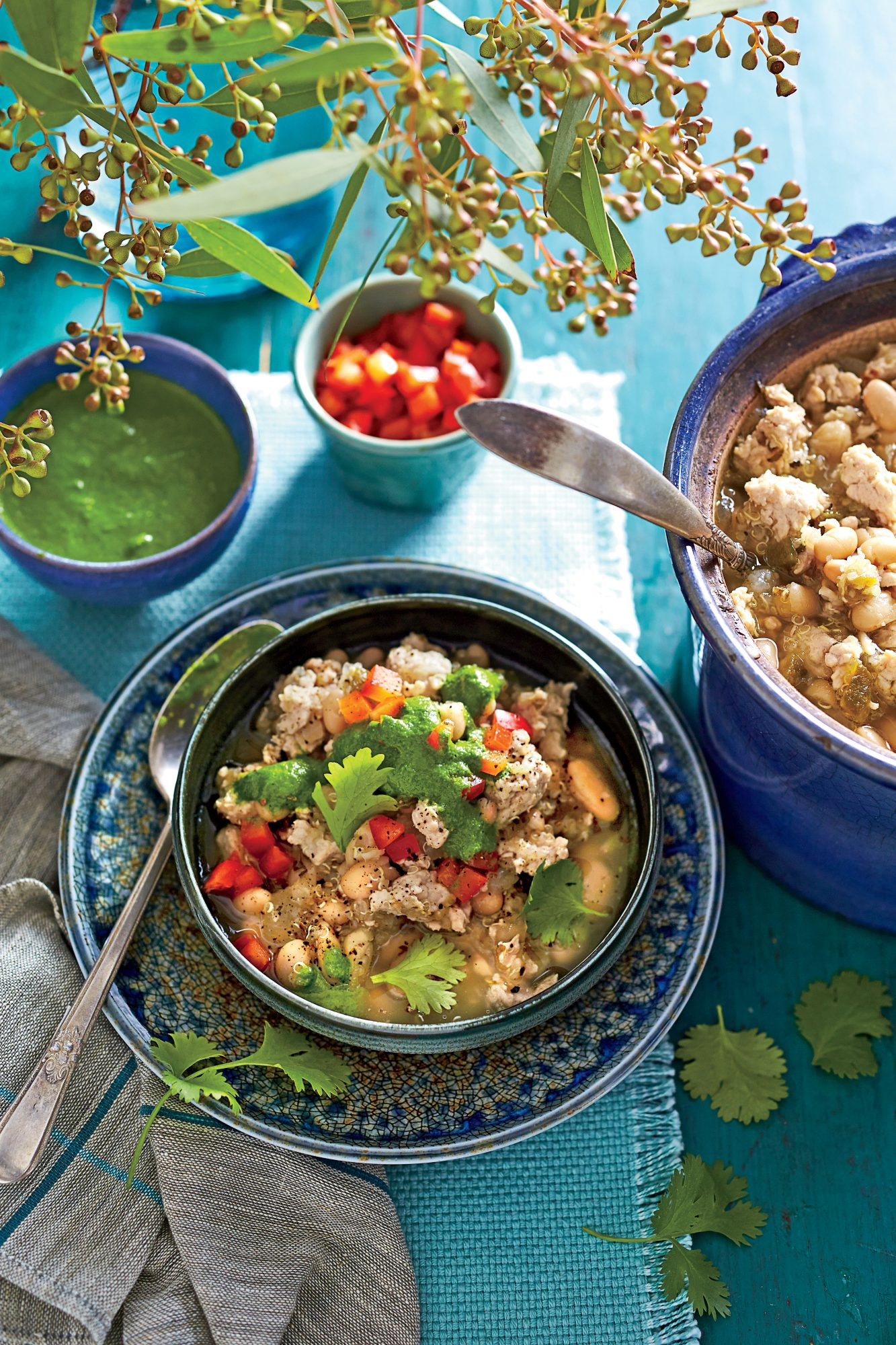 Slow-Cooker Turkey Chili with Quinoa Recipe