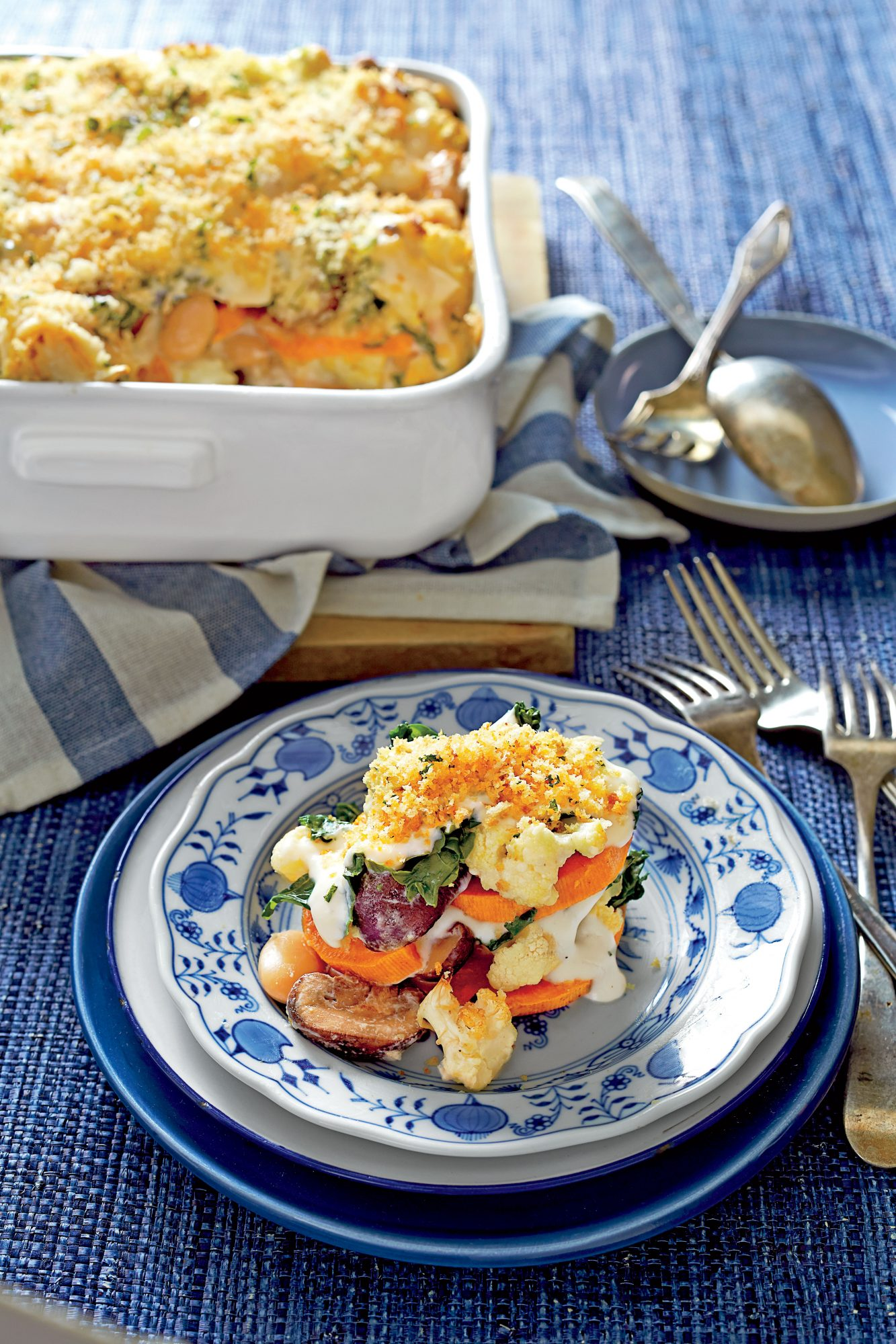 50 Best Thanksgiving Sweet Potato, Cauliflower, and Greens Casserole