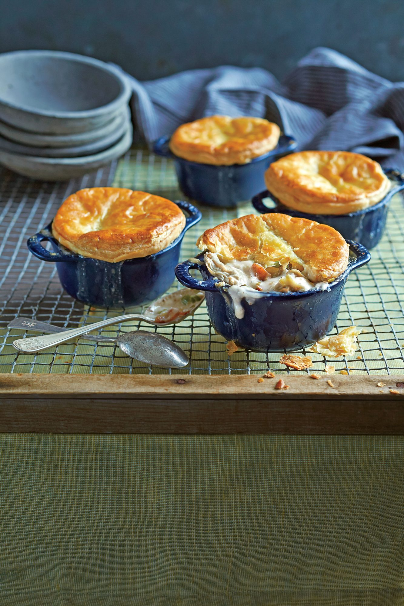 Oyster-Bacon Pot Pie