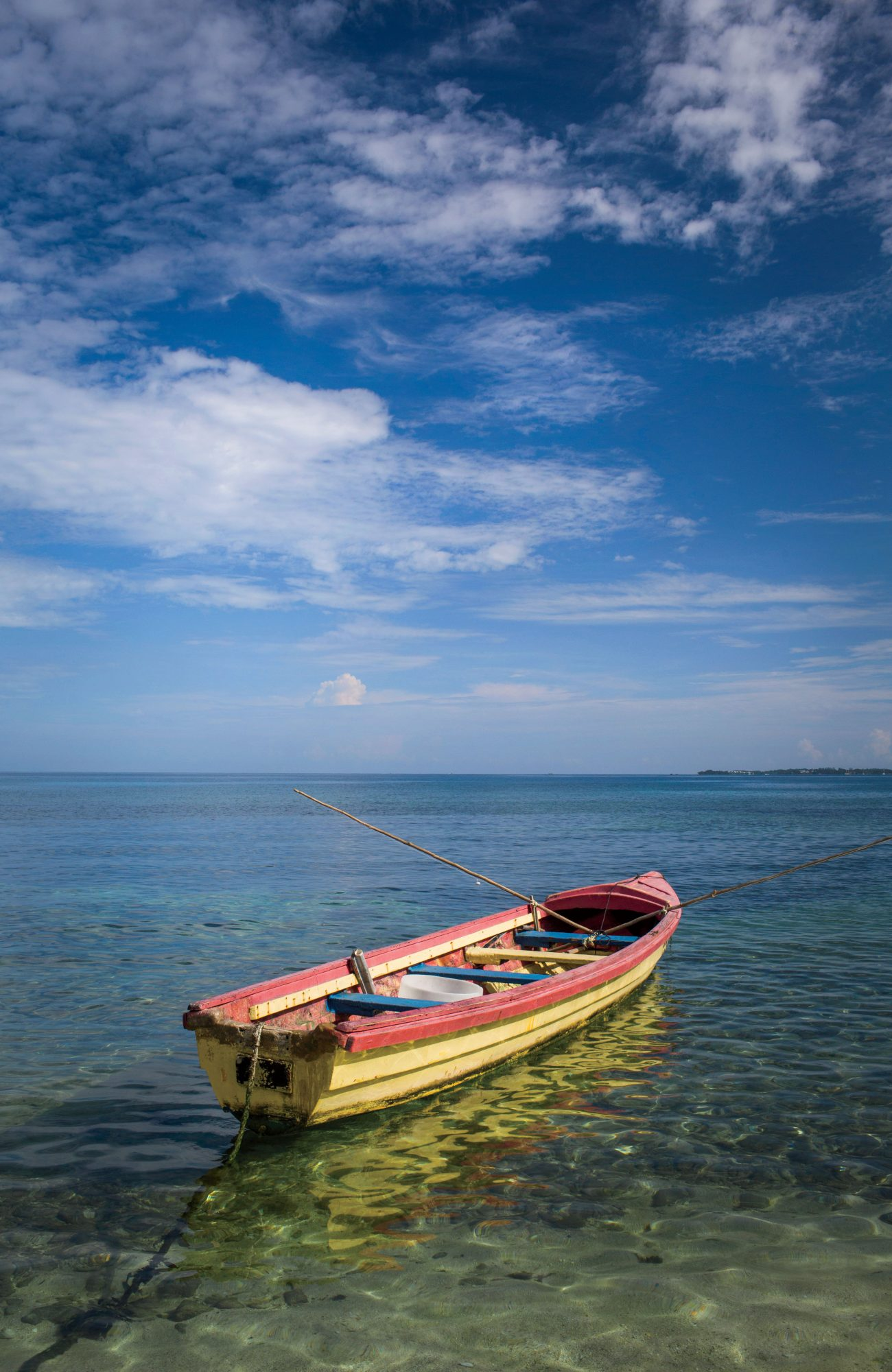Yellow Boat in Negril, Jamaica