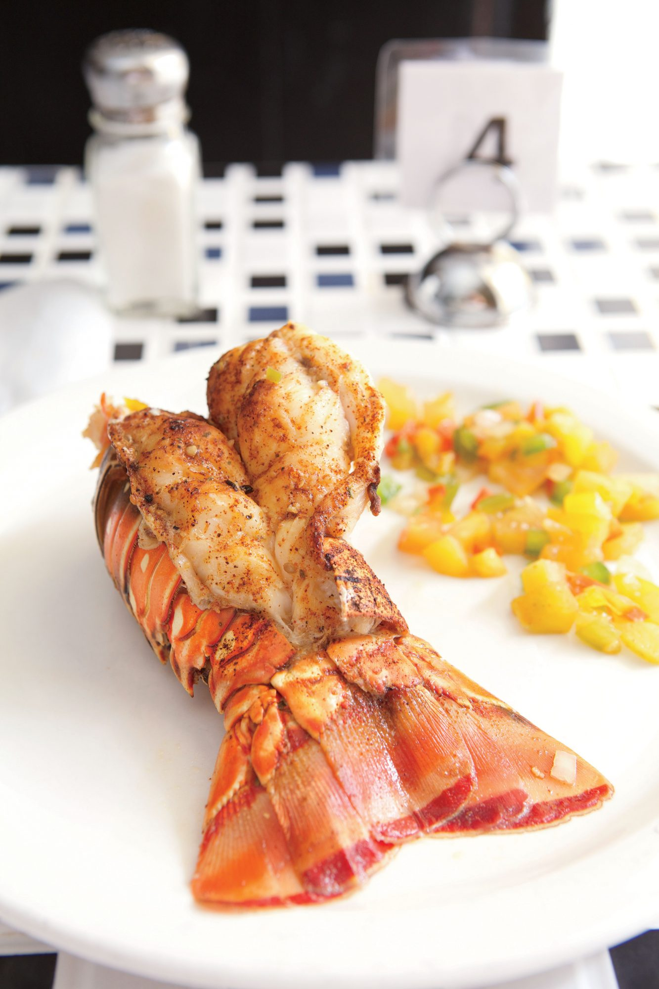 Grilled Spiny Lobster at Bahamian Cookin'