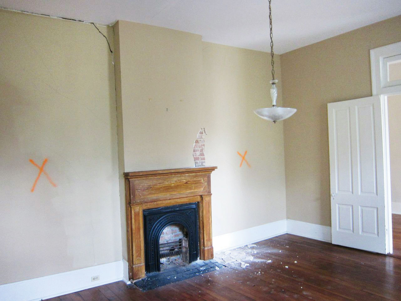 John Currence Fireplace Before