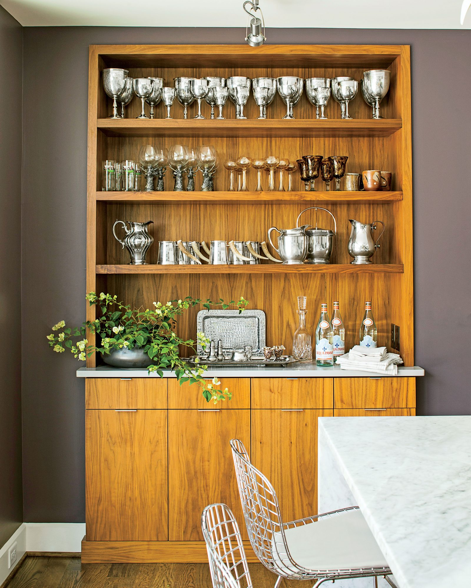 Butler's Pantry Displaying Family Silver