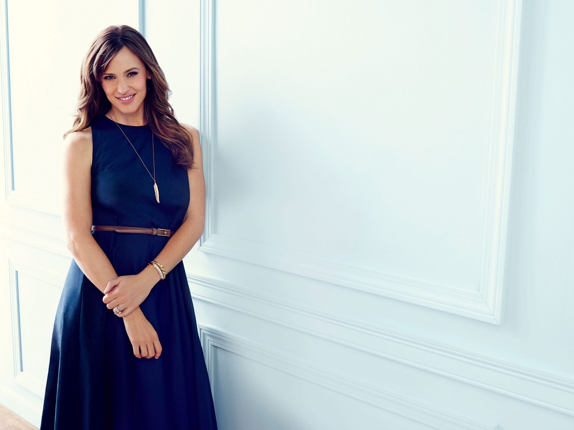 Jennifer Garner wearing Navy Dress