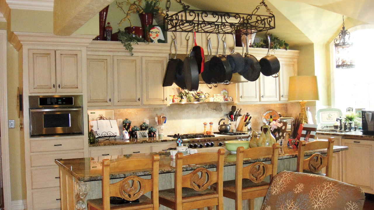Cluttered Kitchen Before