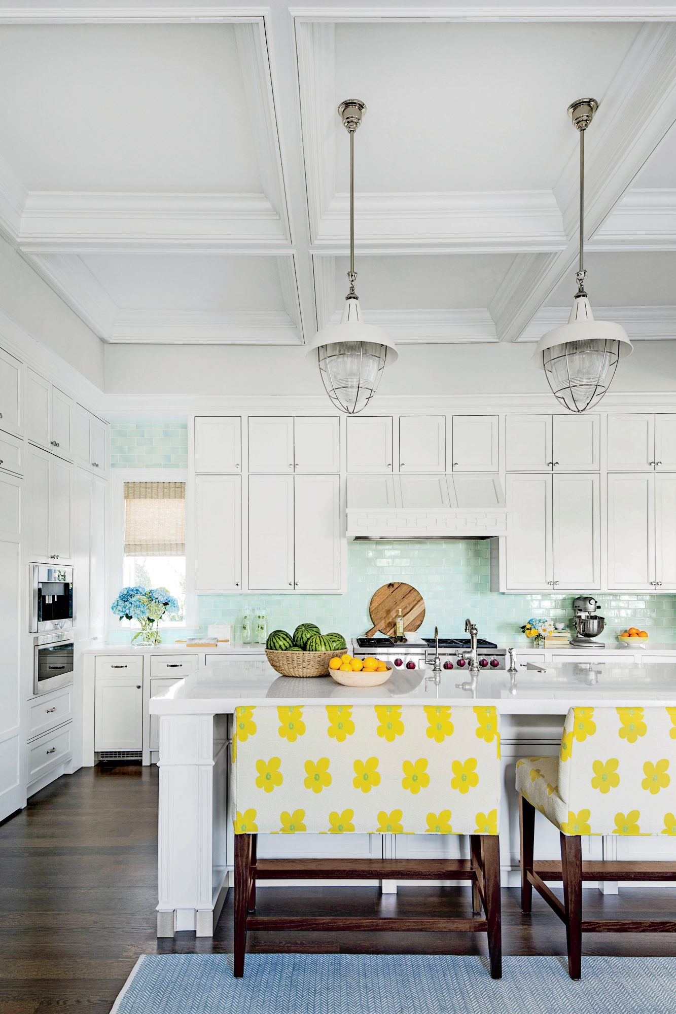 Industrial White Kitchen Lights