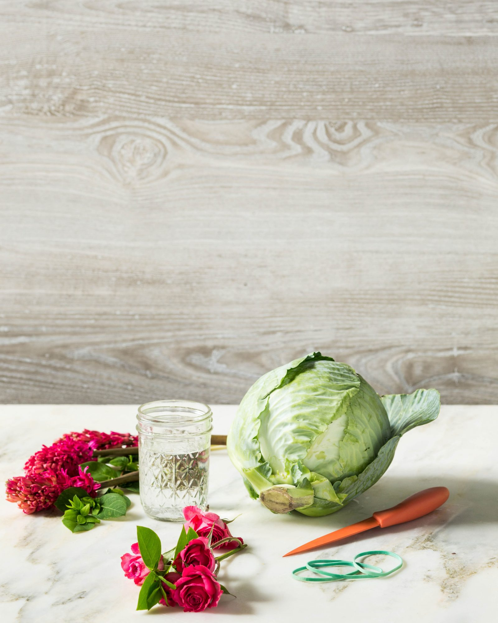 Cabbage Flower Centerpiece Materials