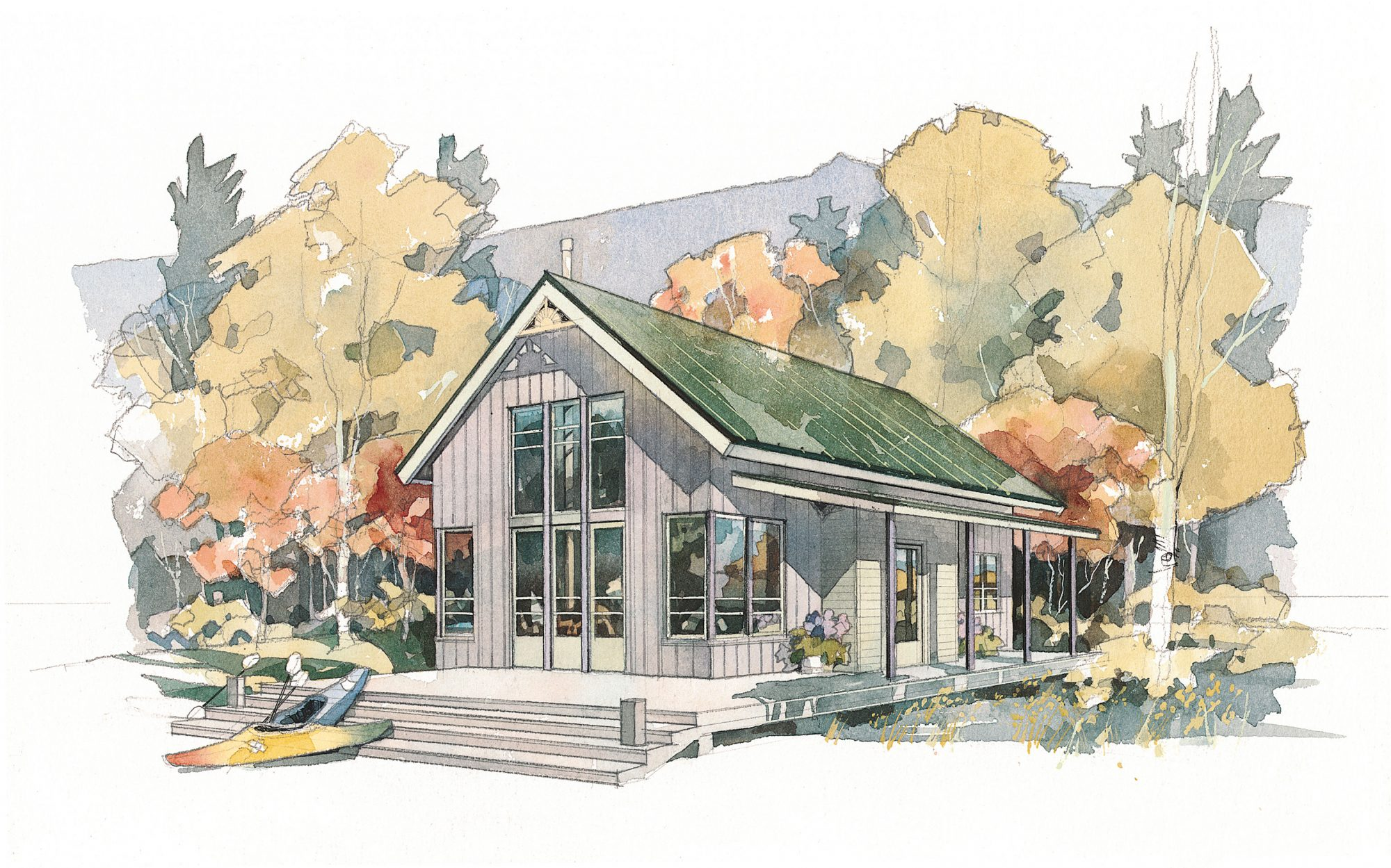 Shoreline Cottage Plan #490
