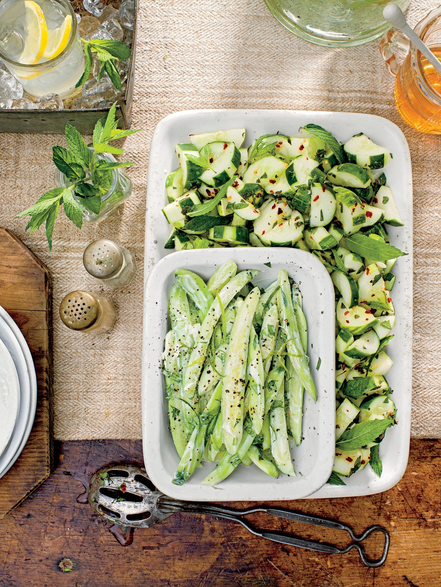 Creamy Basil-Black Pepper Cucumbers