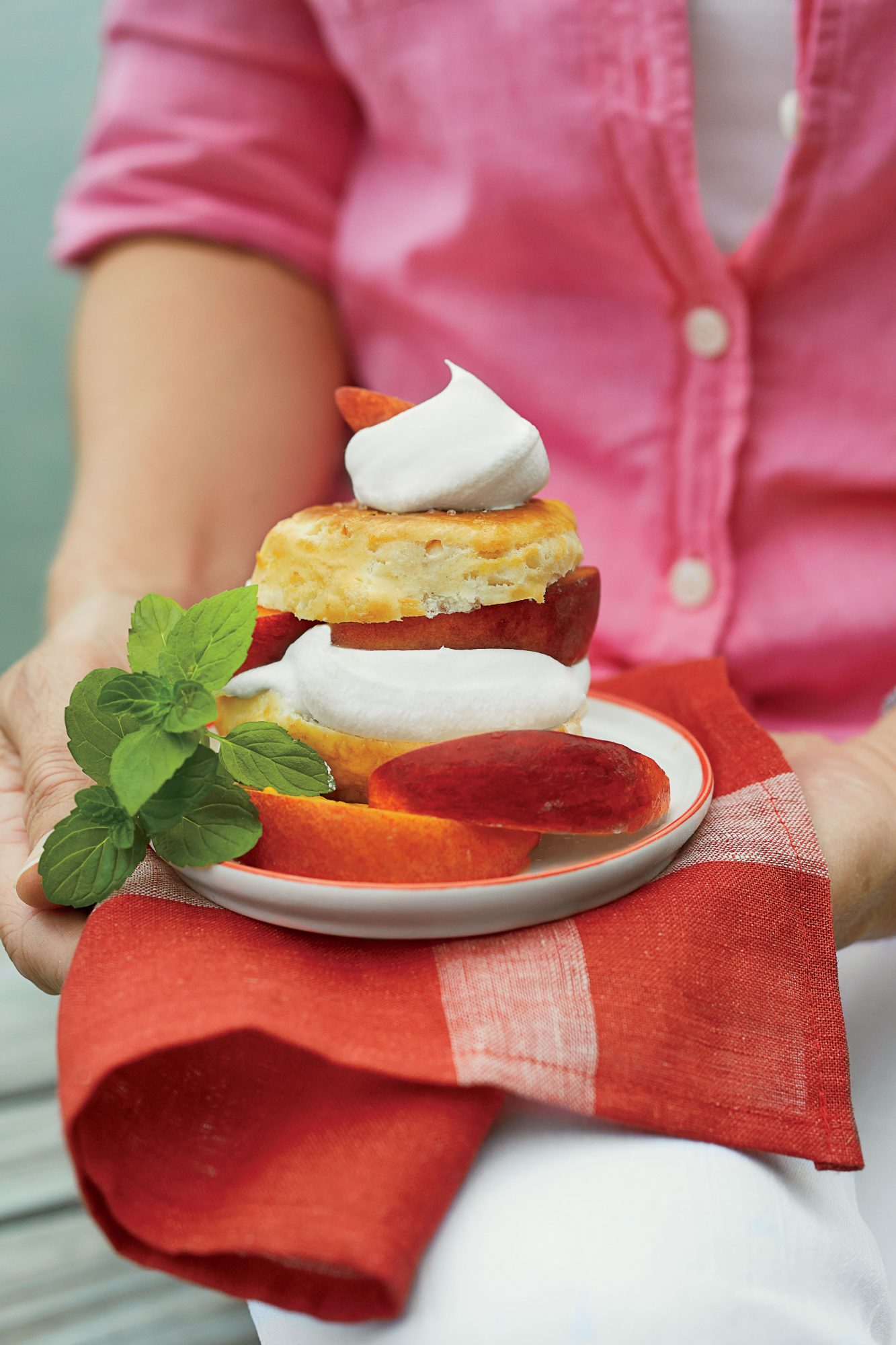 Boozy Peach Shortcakes with Sweet Cream