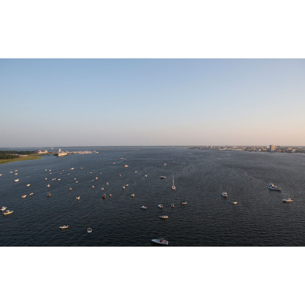 View of Boats from Ravenel Bridge
