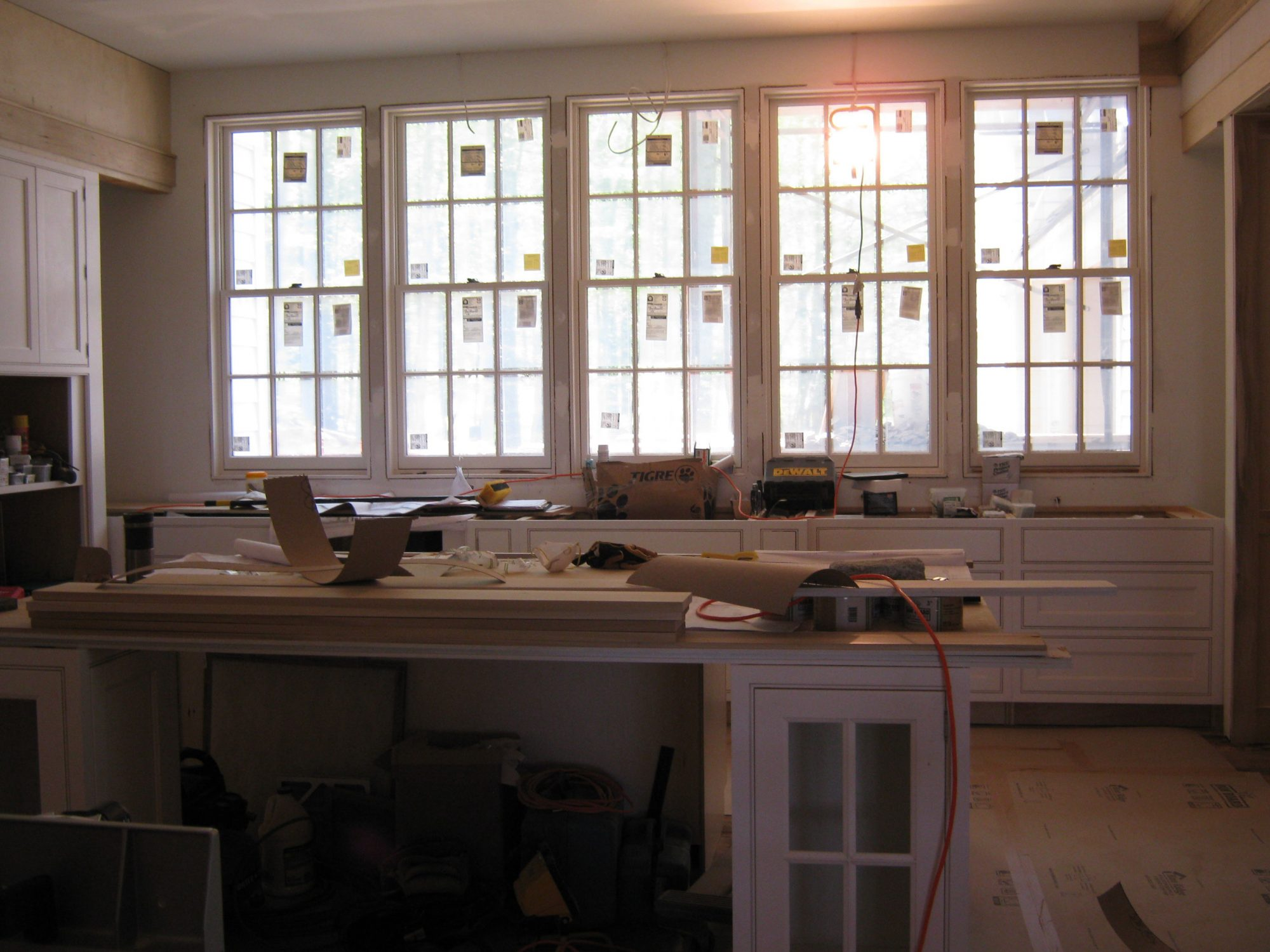 Construction Kitchen Island