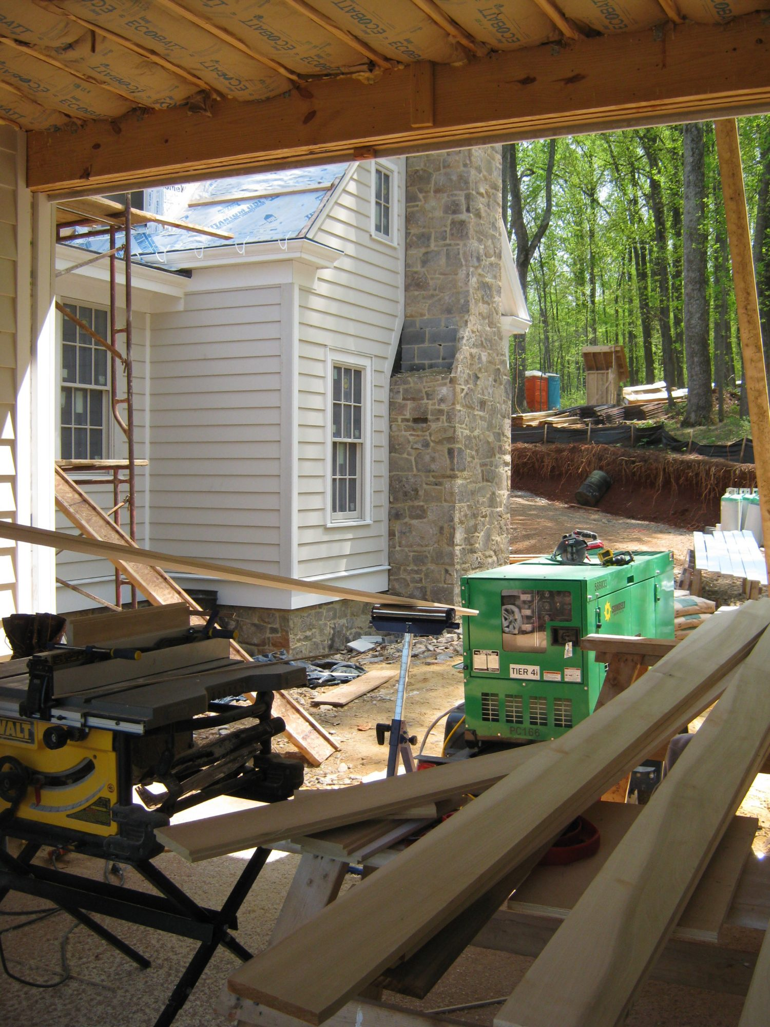 Idea House Construction Breezeway View