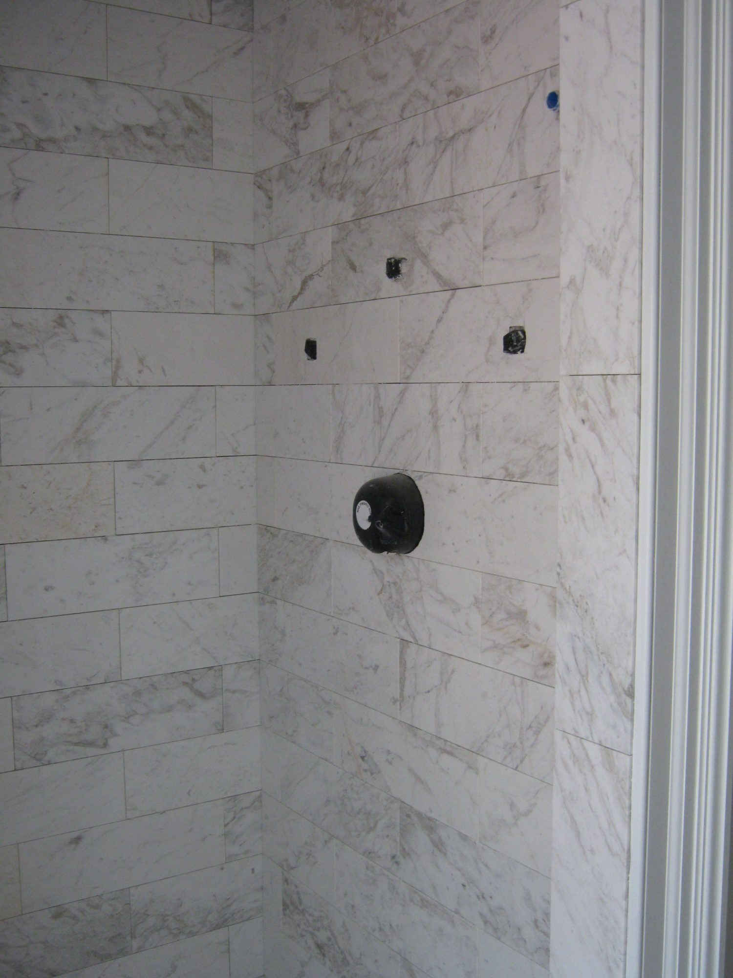 Construction Shower Tile