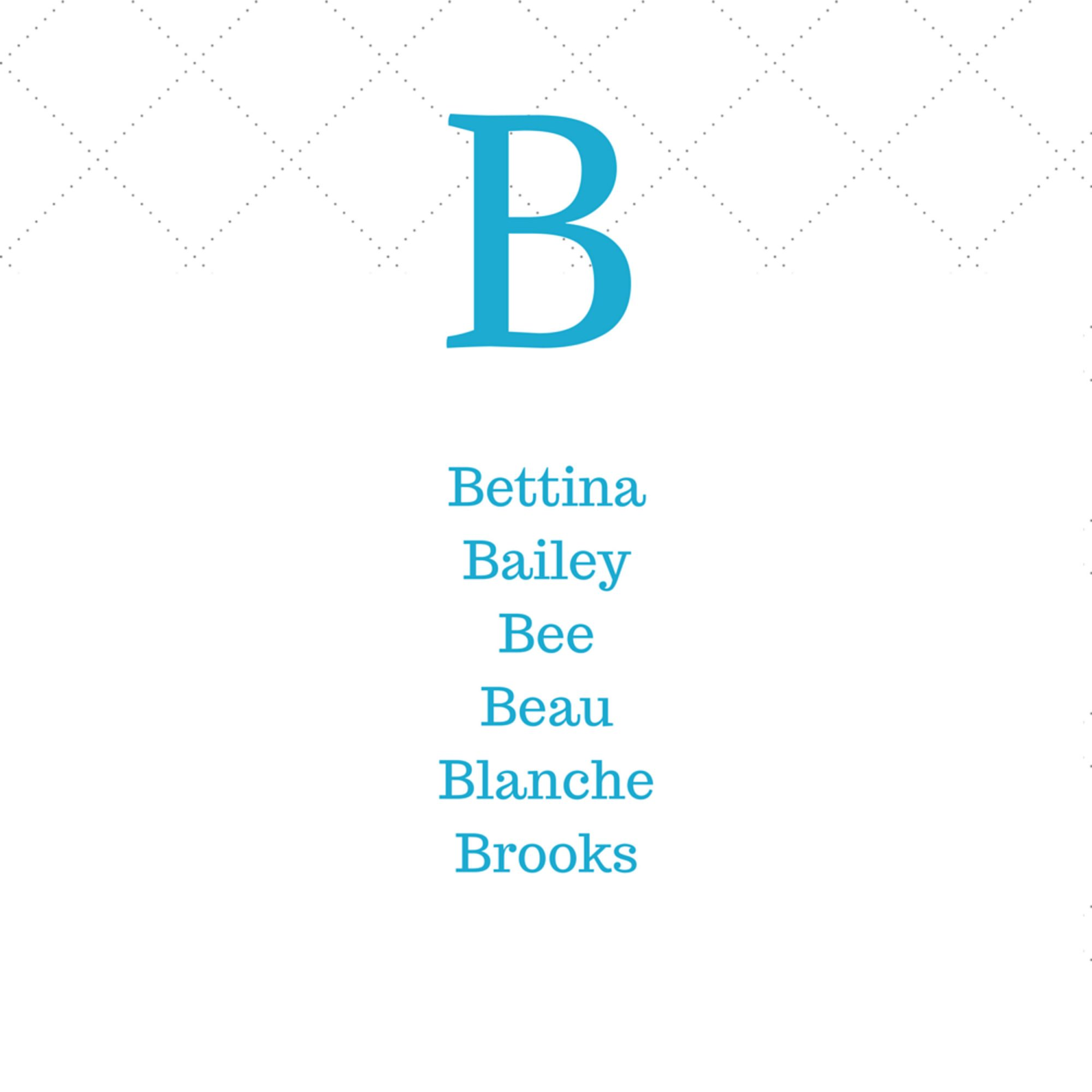 Timeless Southern B Baby Names
