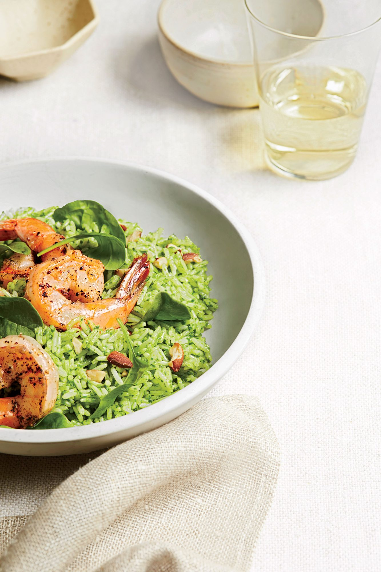 Shrimp and Pesto-Rice Salad