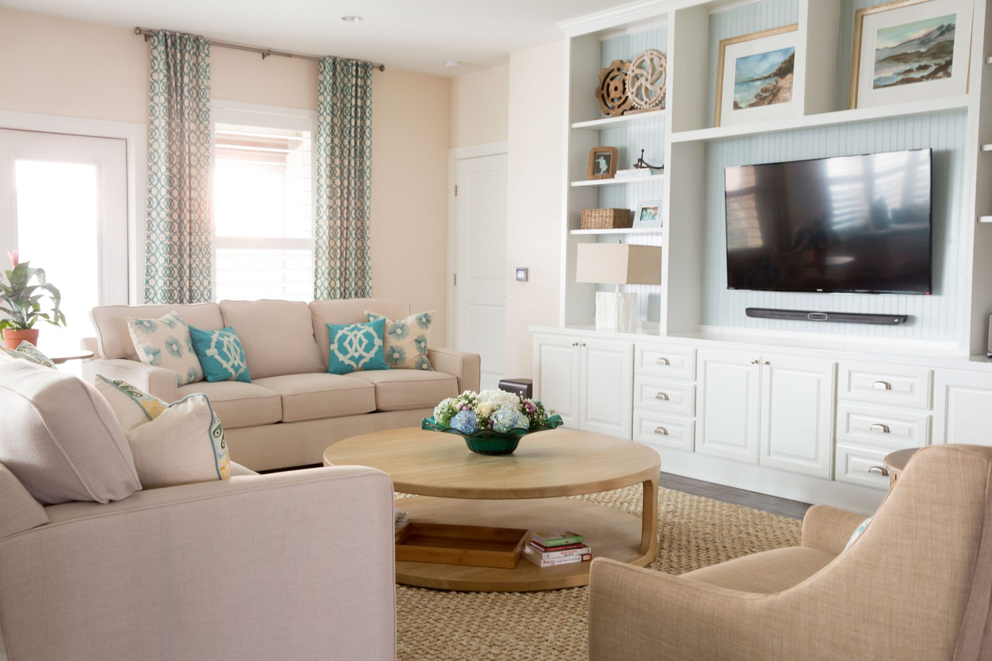 Calming Coastal Family Room