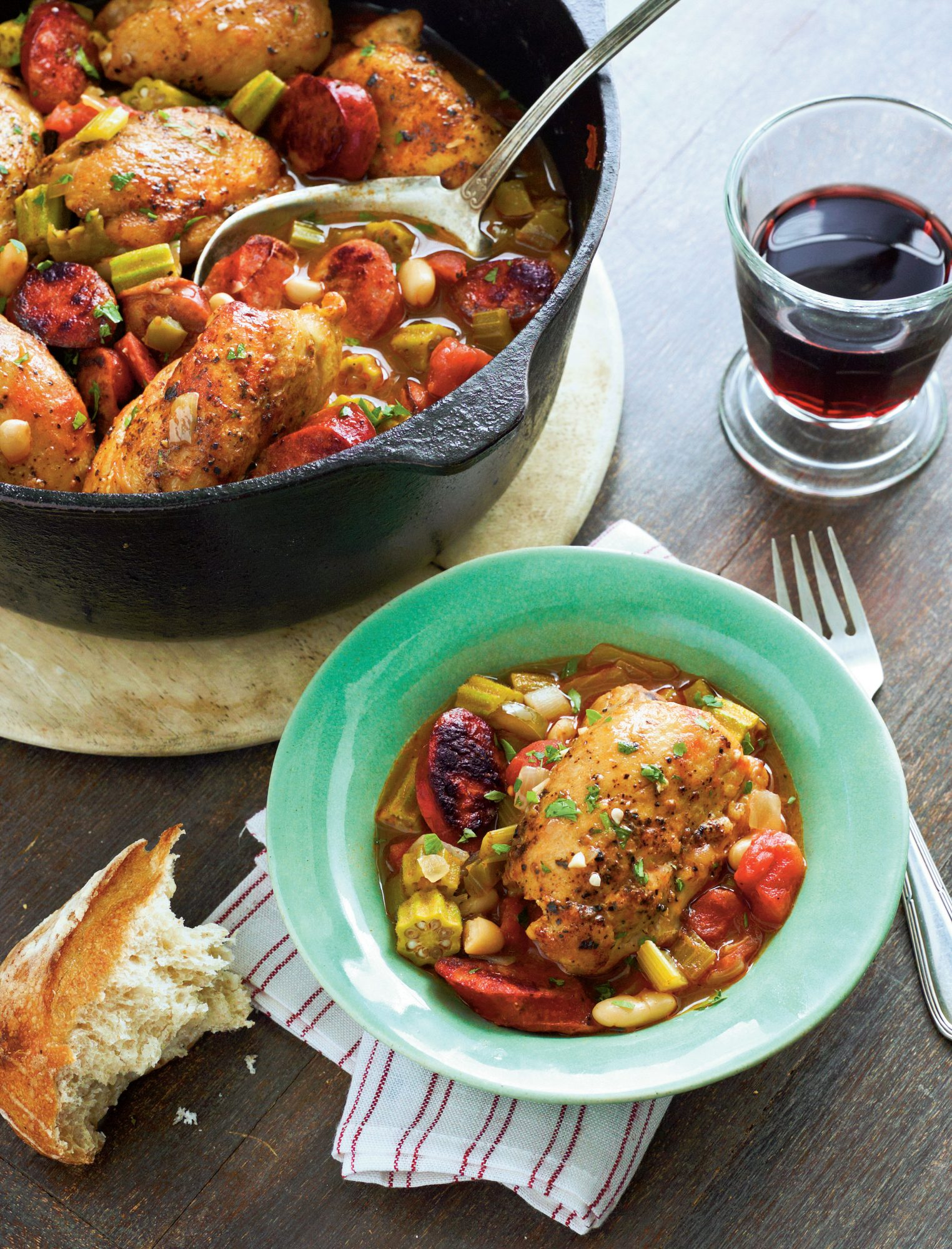Cajun Chicken Cassoulet