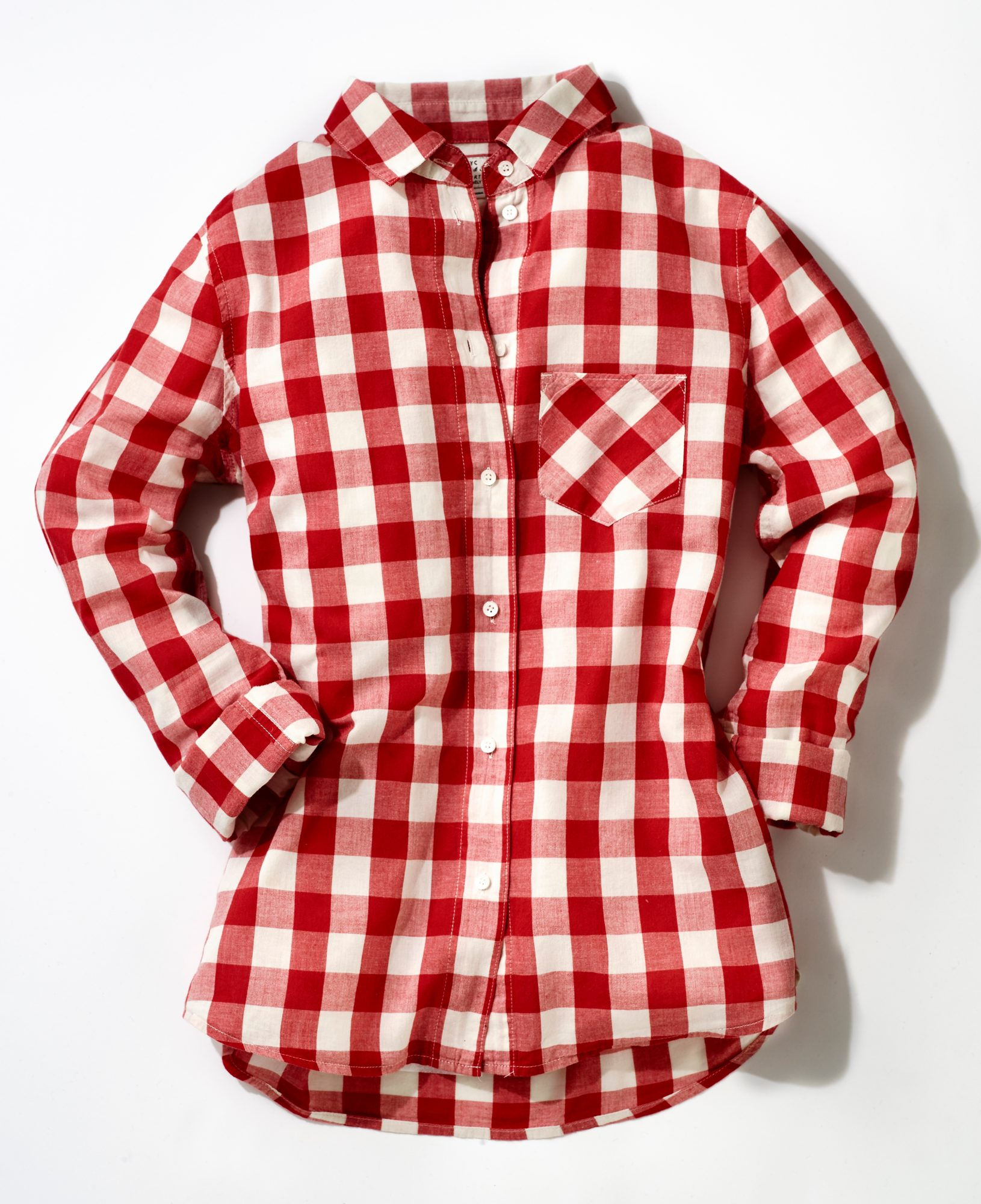 12. A Gingham Button-down