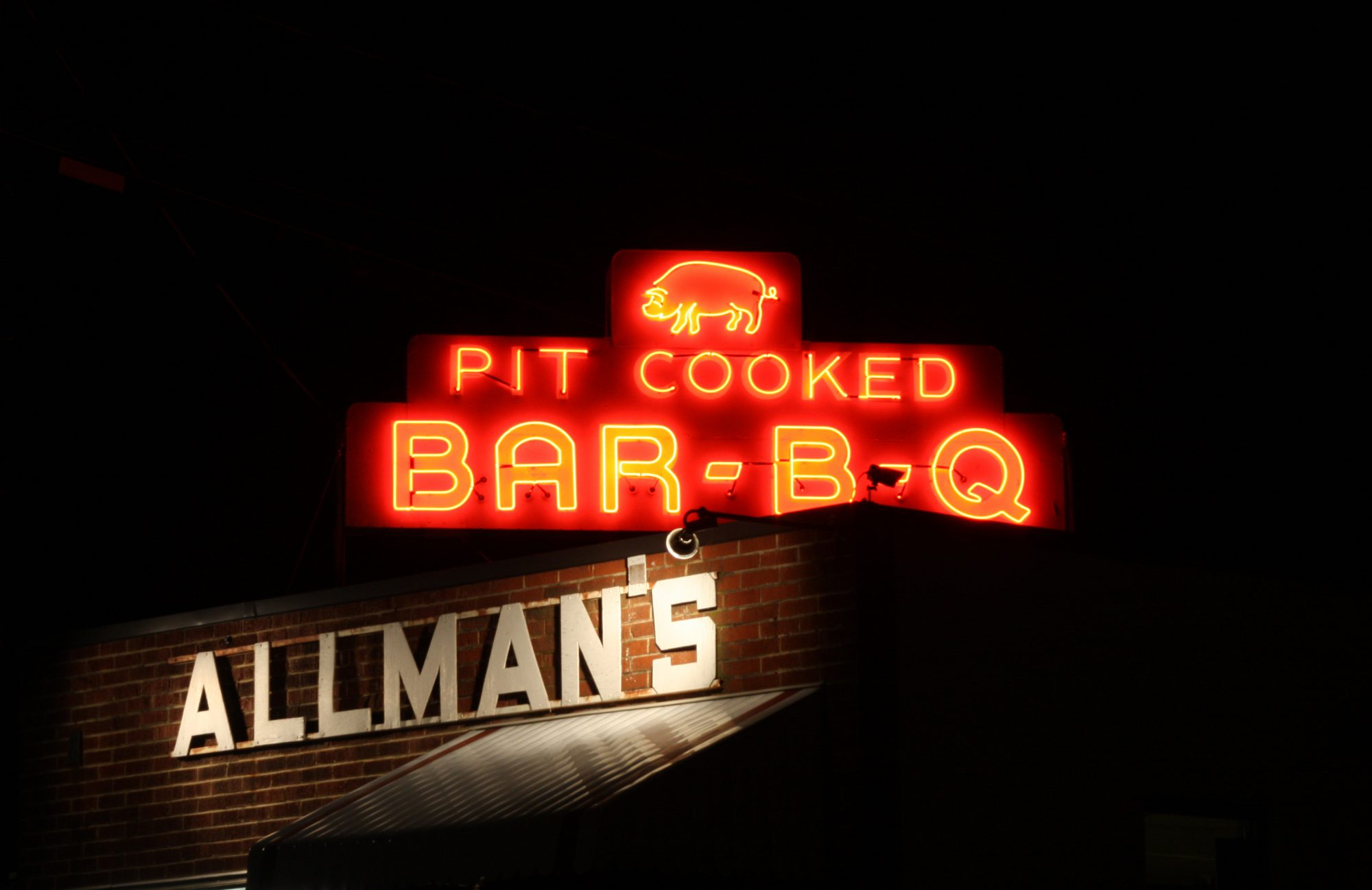 Allman's Bar-B-Que in Fredericksburg, Virginia