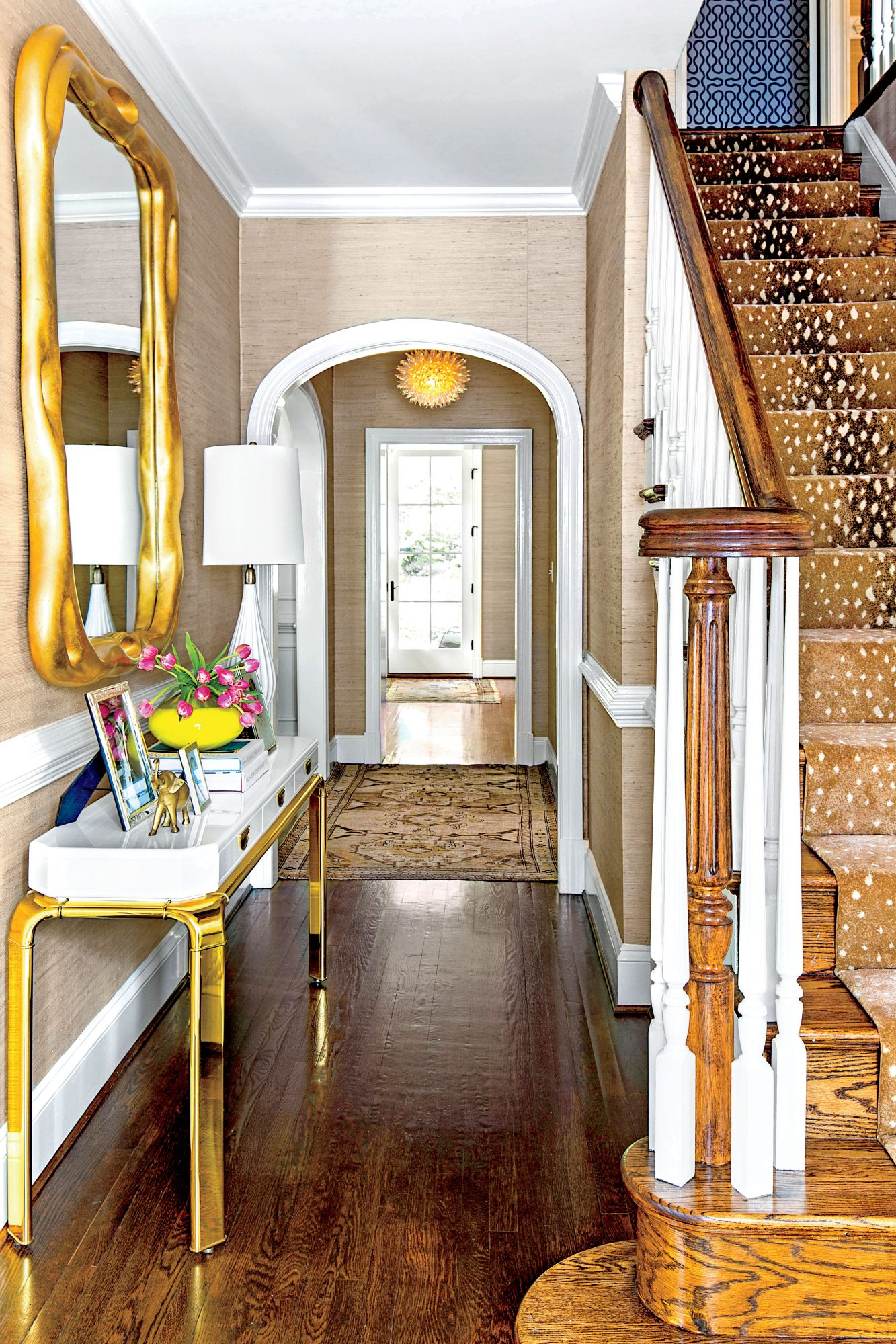 Richmond Foyer with Gold Accents