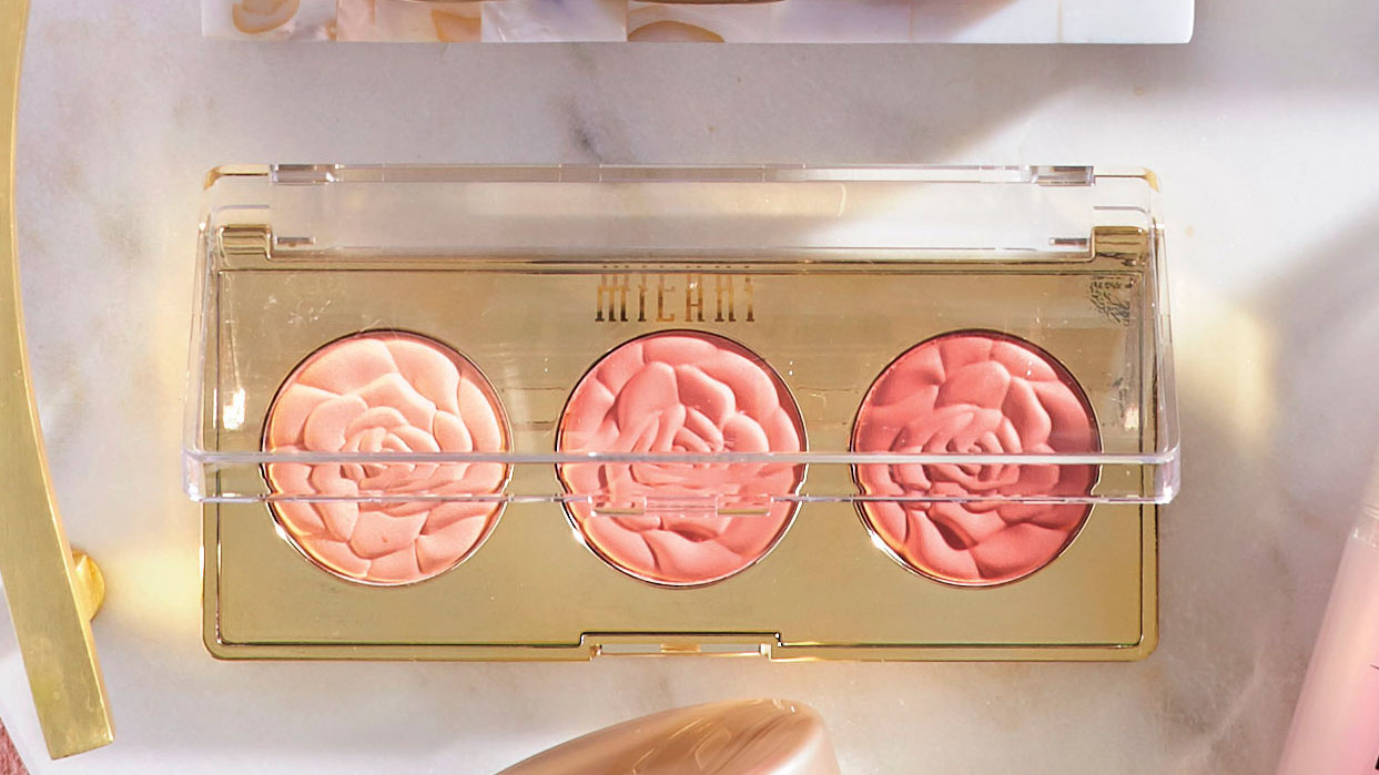 Milani Cosmetics Rose Powder Blush Trio Palette