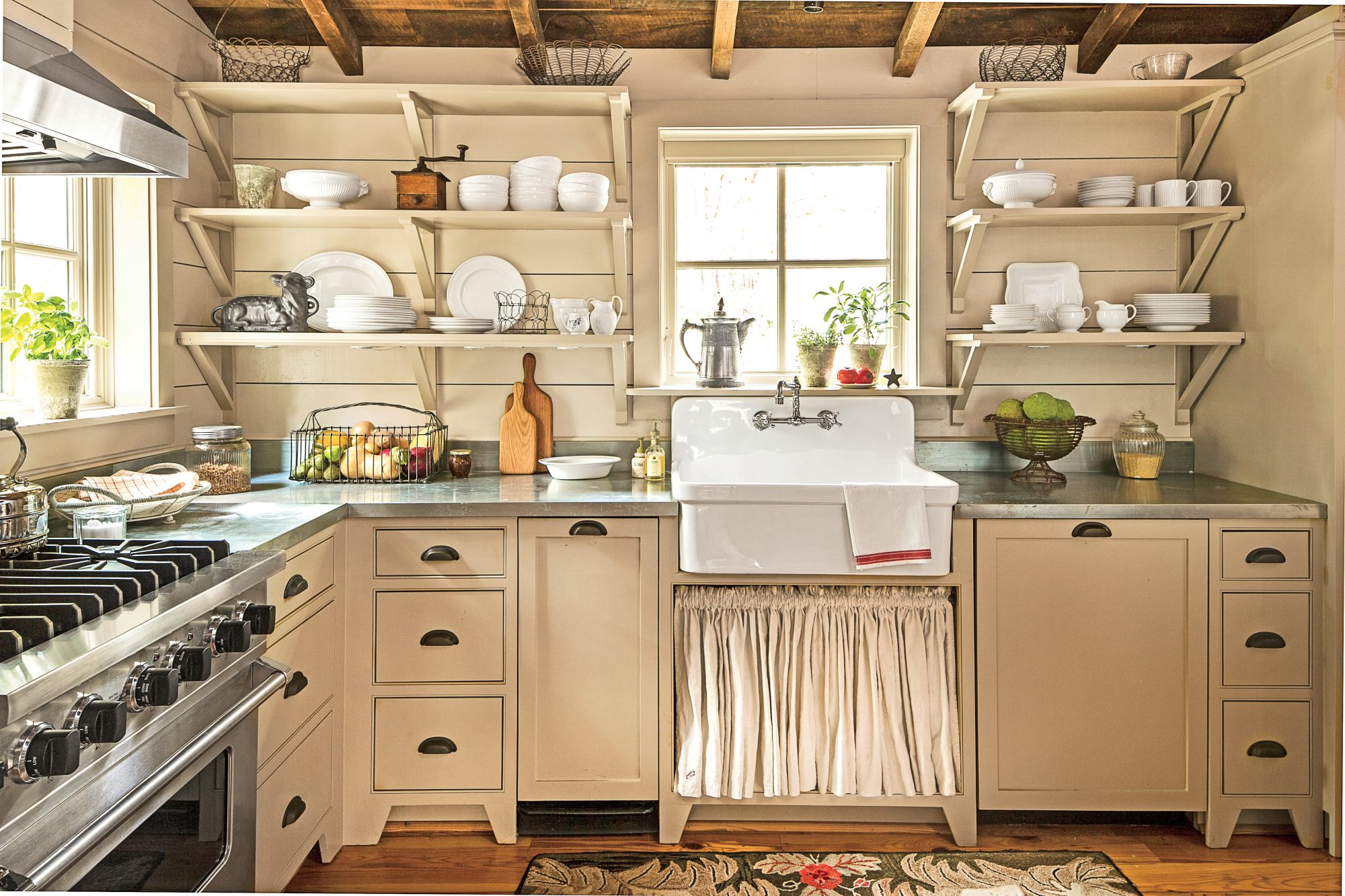 Shiplap in a Cabin Kitchen