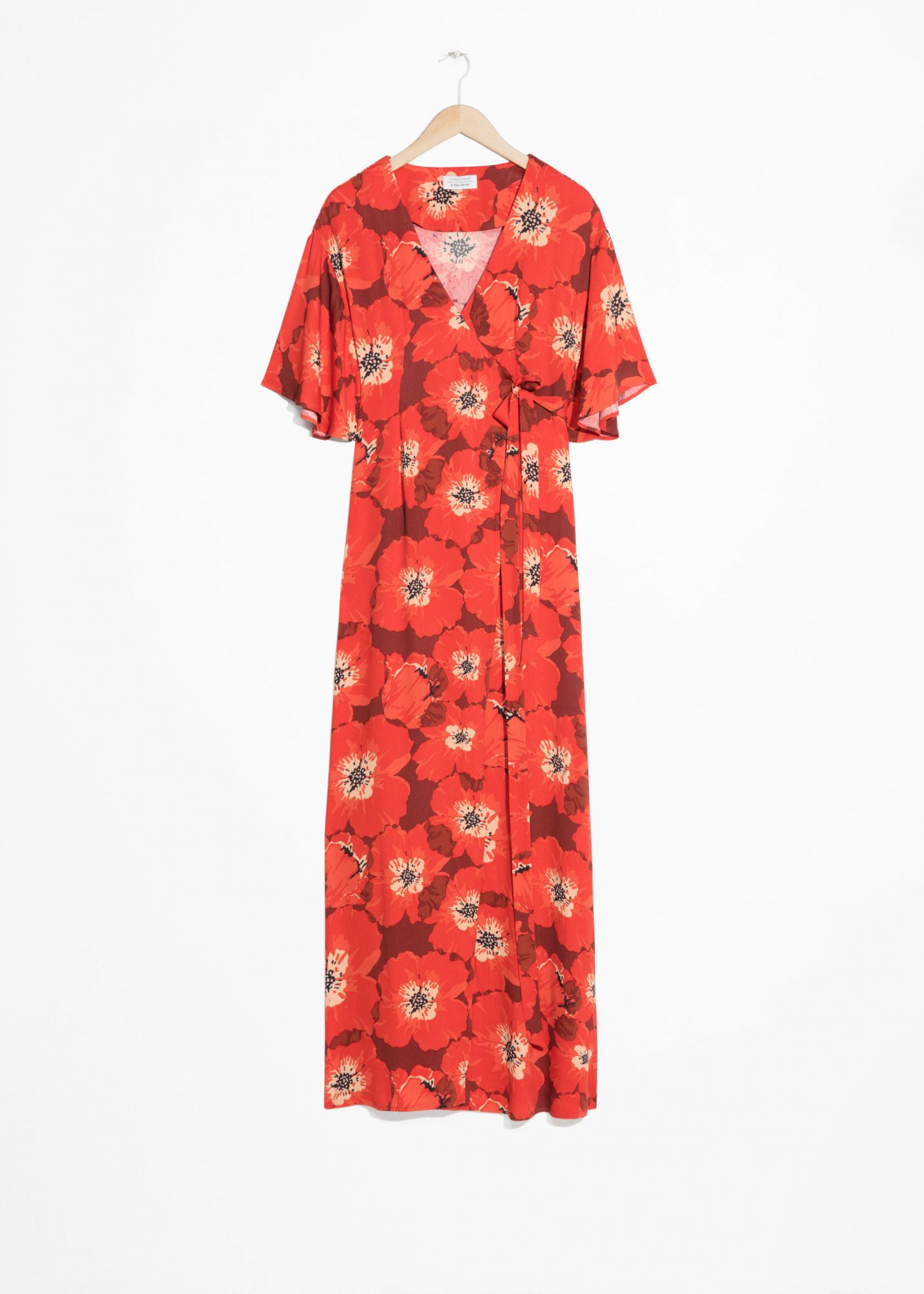 Poppy Print Wrap Dress