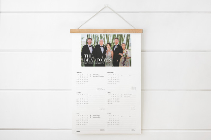 Simple Stack Hanging Bar Calendar