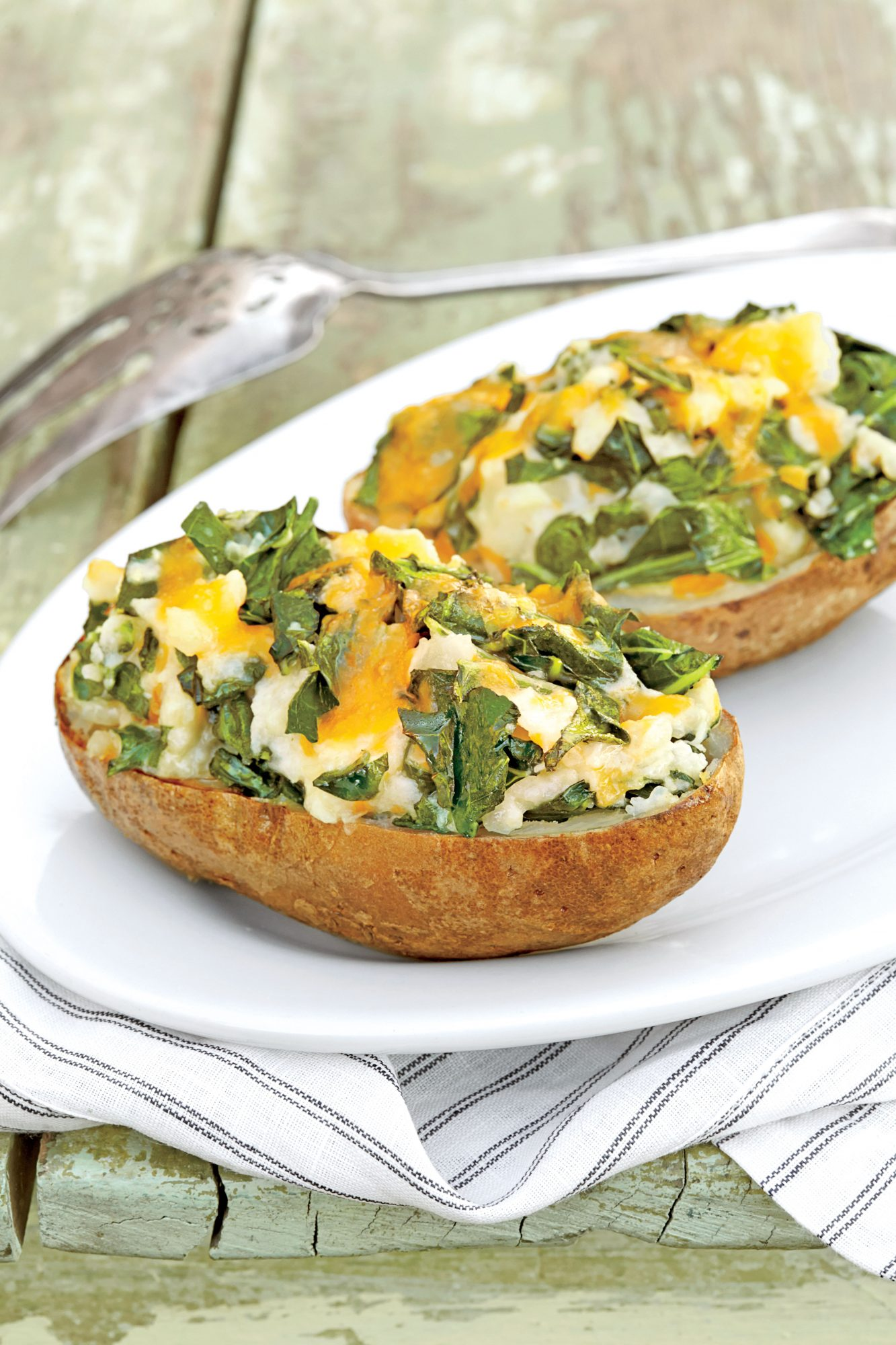 Twice Baked Green Potatoes