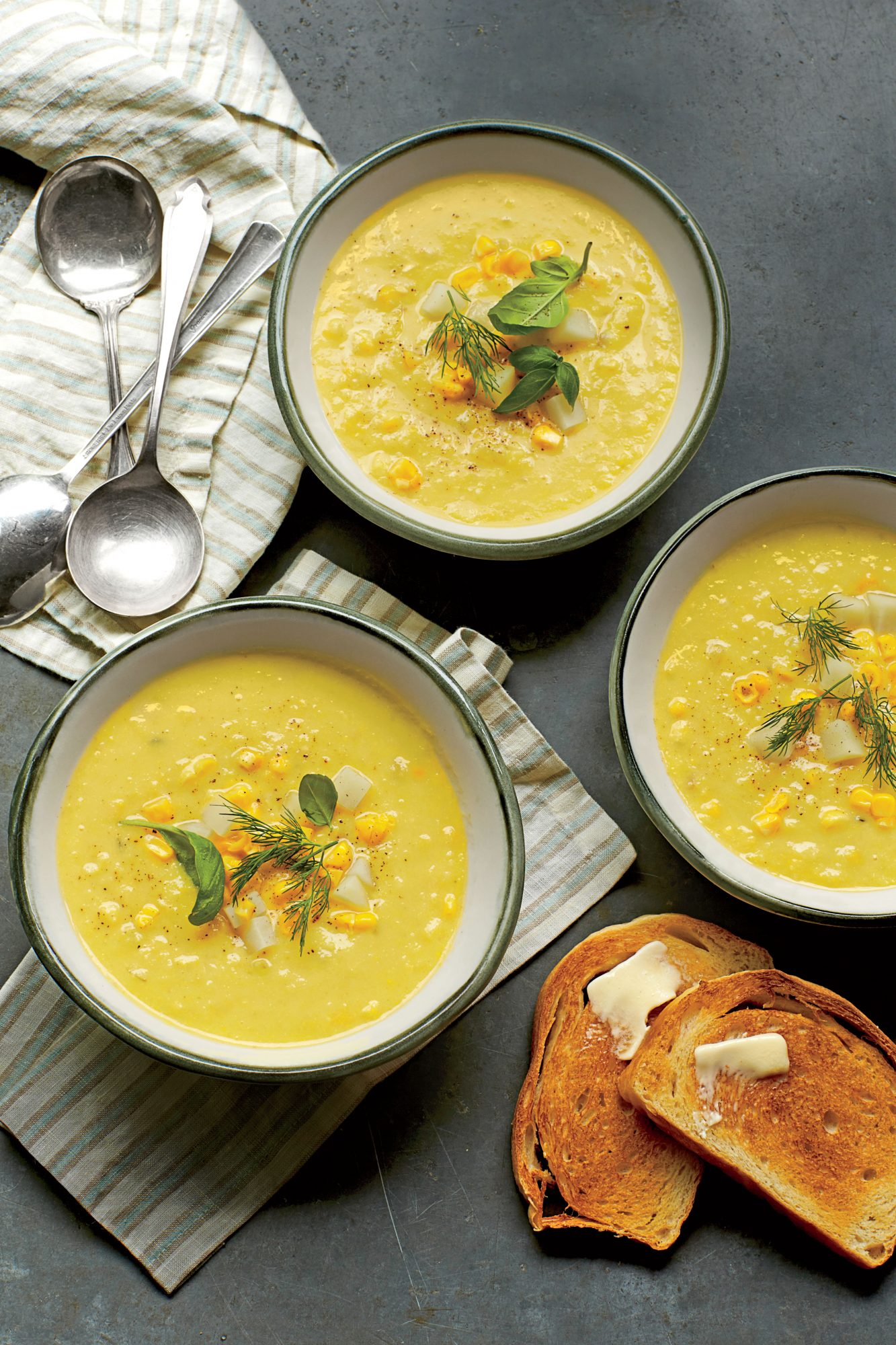 Summer Corn-and-Golden Potato Chowder