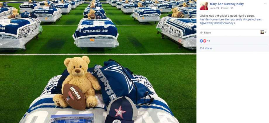 Dallas Cowboys Charity Sleepover