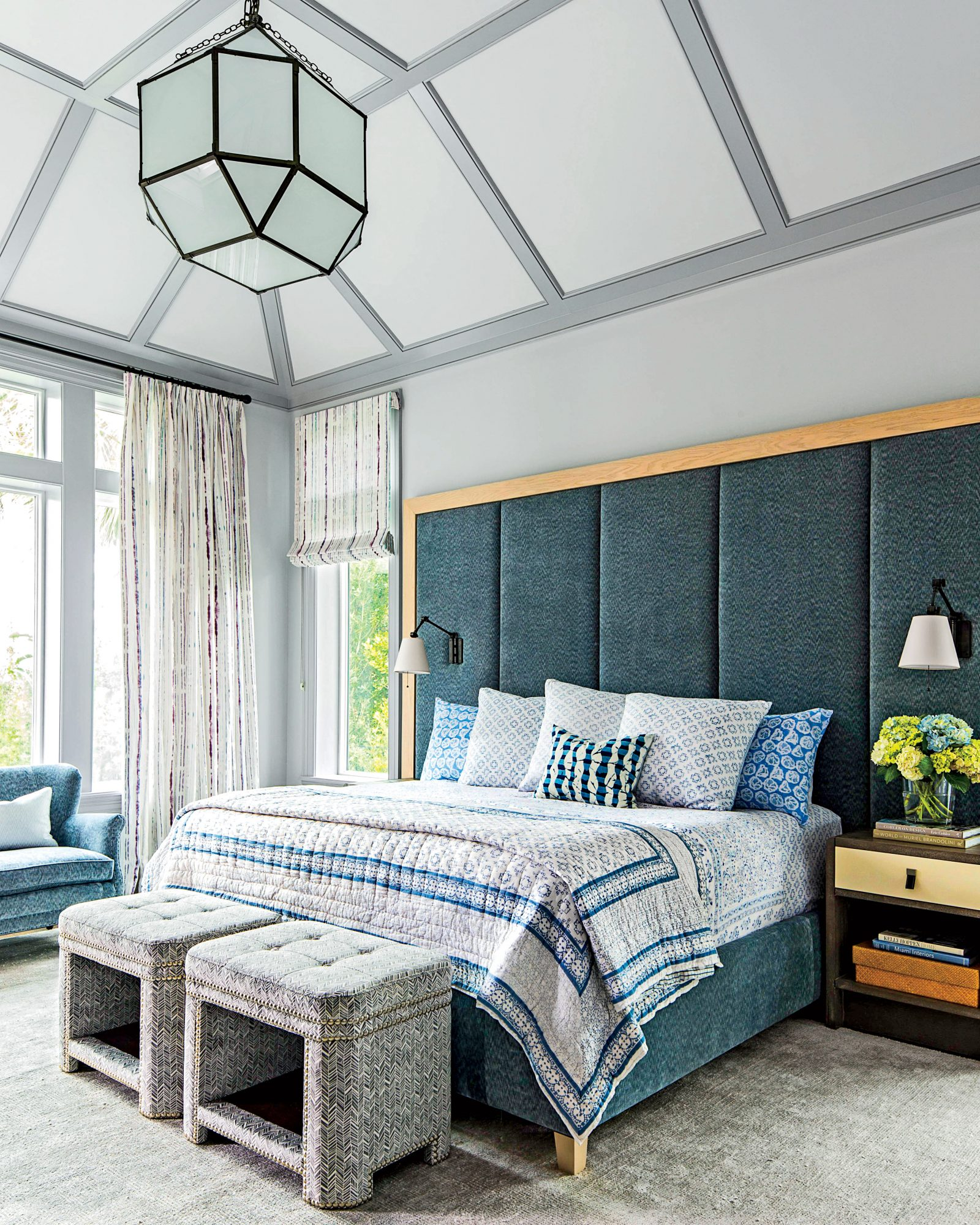 Gray-Blue Master Bedroom