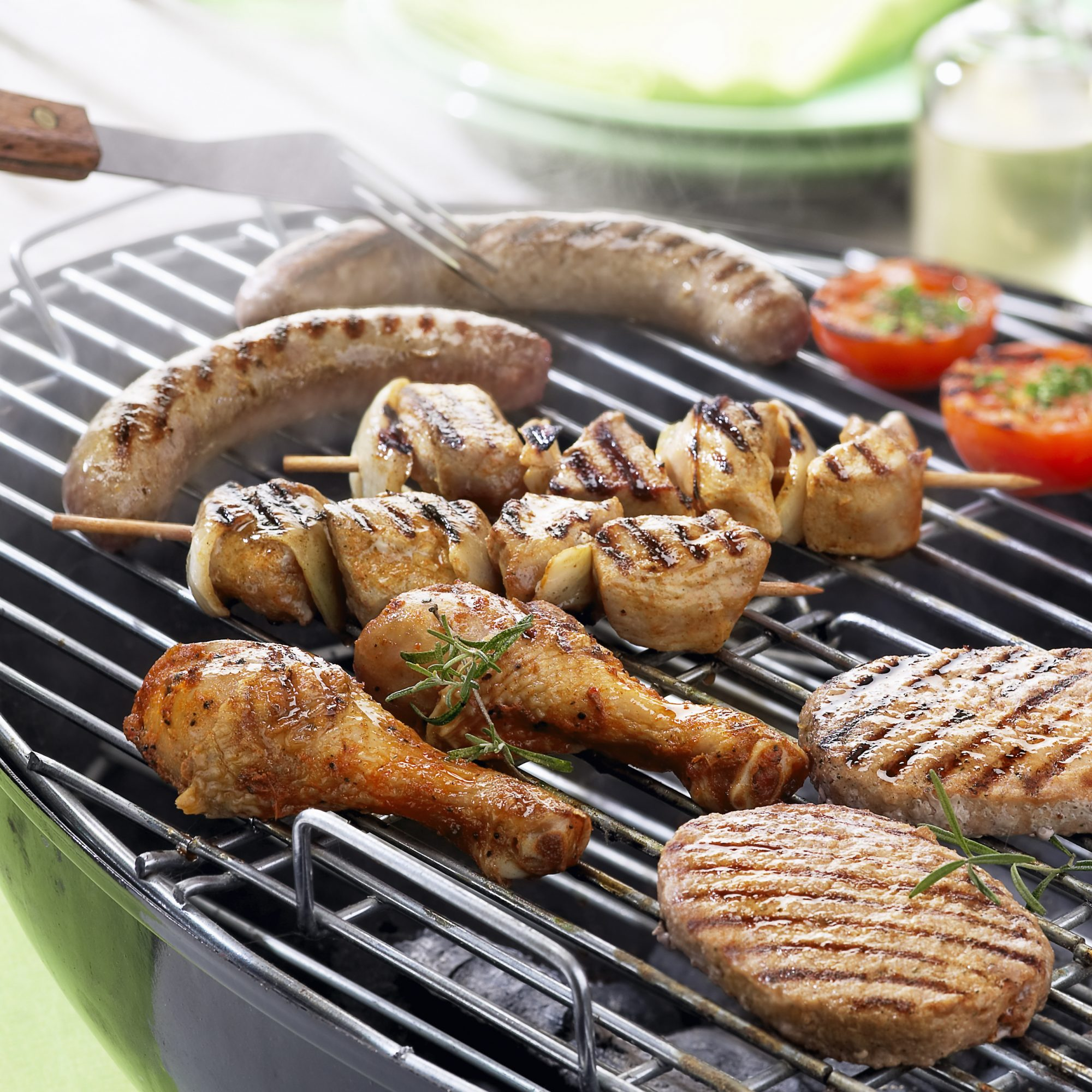 Cooking on Charcoal Grill
