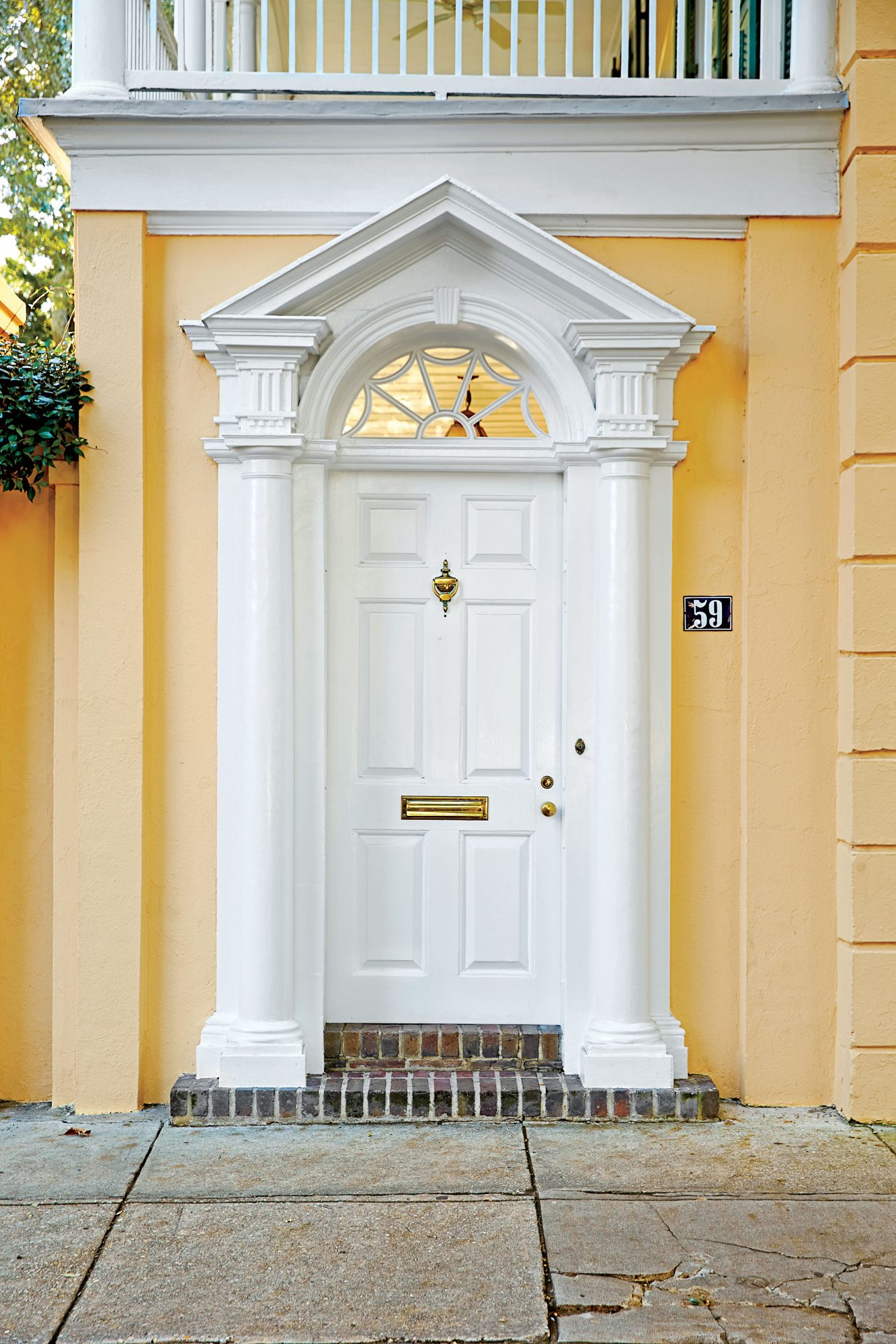 Charleston White Front Door