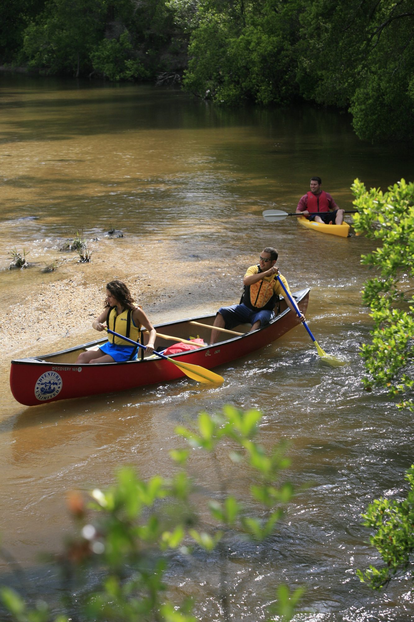 Canoeing on Coldwater Creek in Blackwater River State Park