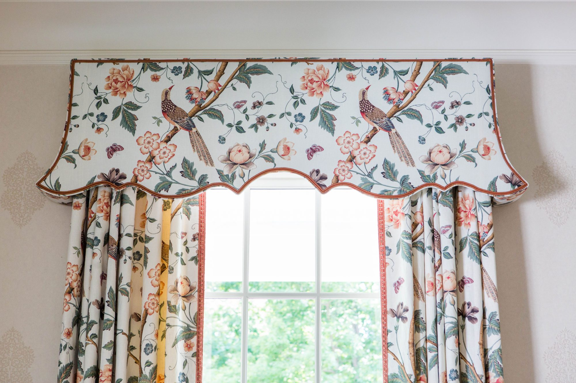 Dining Room Valance and Curtains