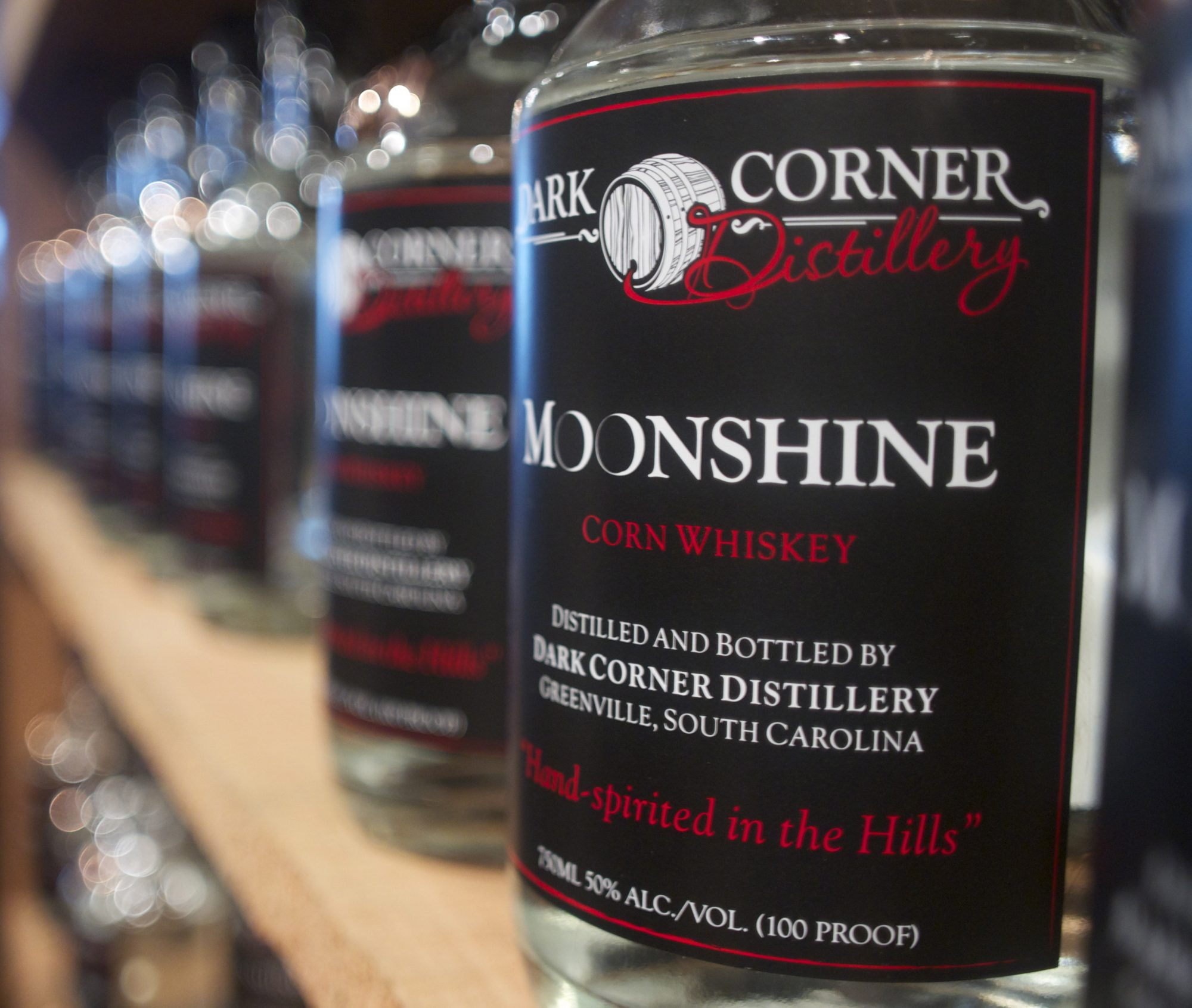 The Dark Corner Distillery Moonshine in Greenville, SC