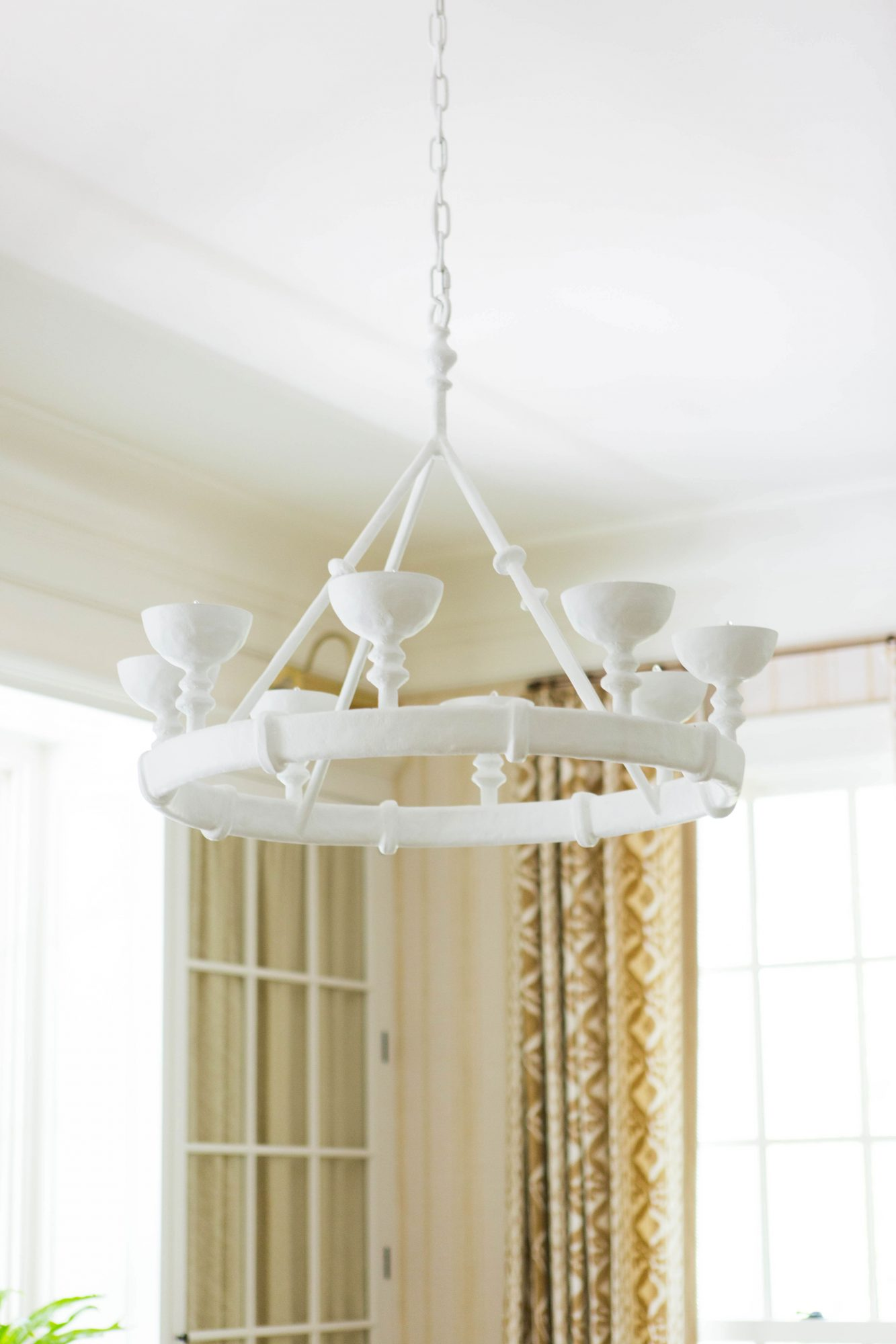 White Living Room Chandelier