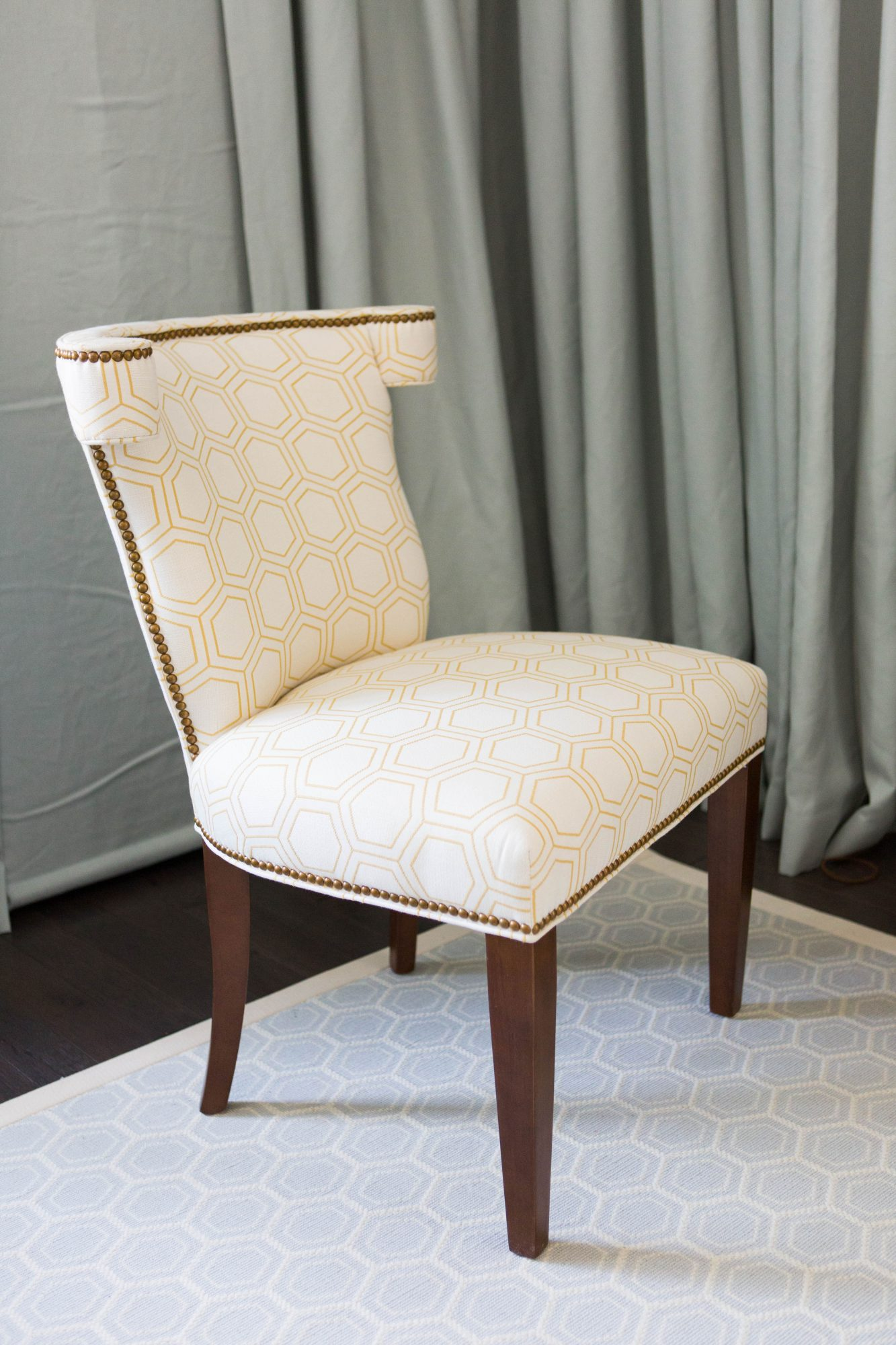 Yellow and White Chair