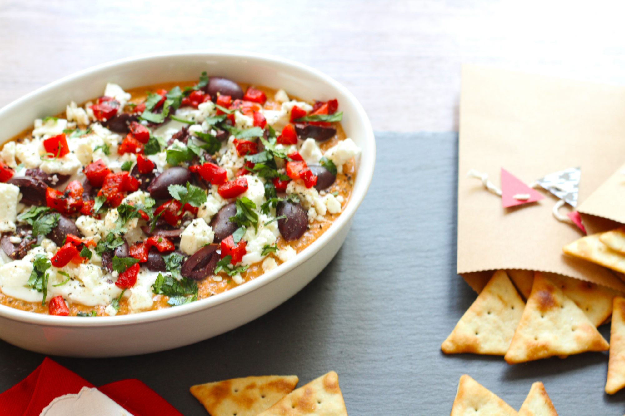 Crimson and White Mediterranean Dip